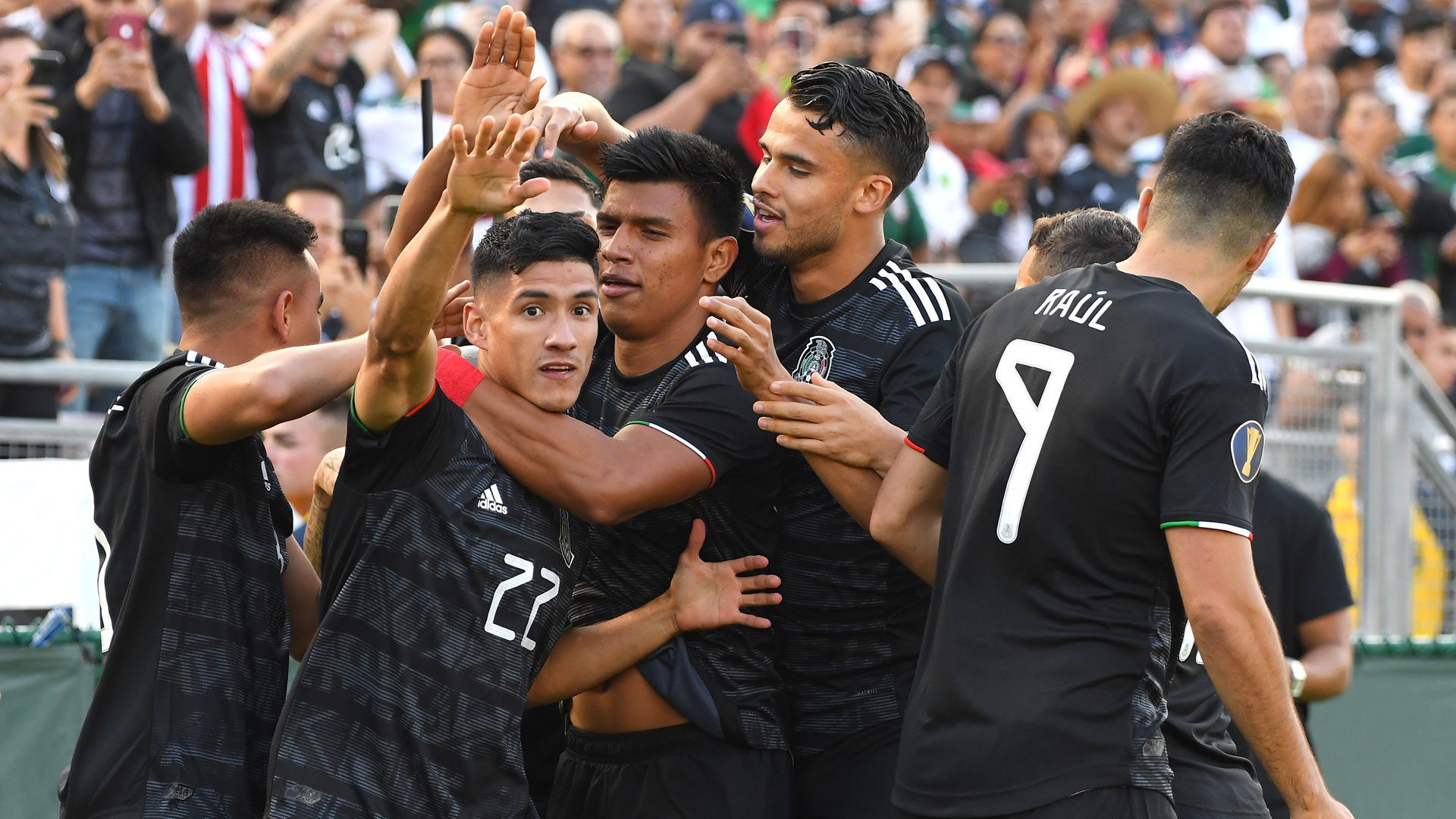 Uriel Antuna netted a hat-trick as Mexico comprehensively beat Cuba at the CONCACAF Gold Cup.