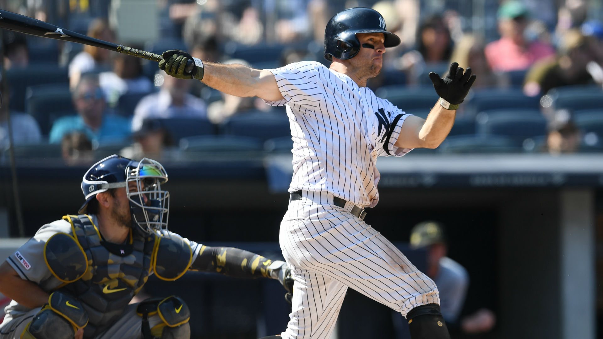 Gardner finished with three RBIs and two runs scored in the Yankees' 13-5 win over the Rays.
