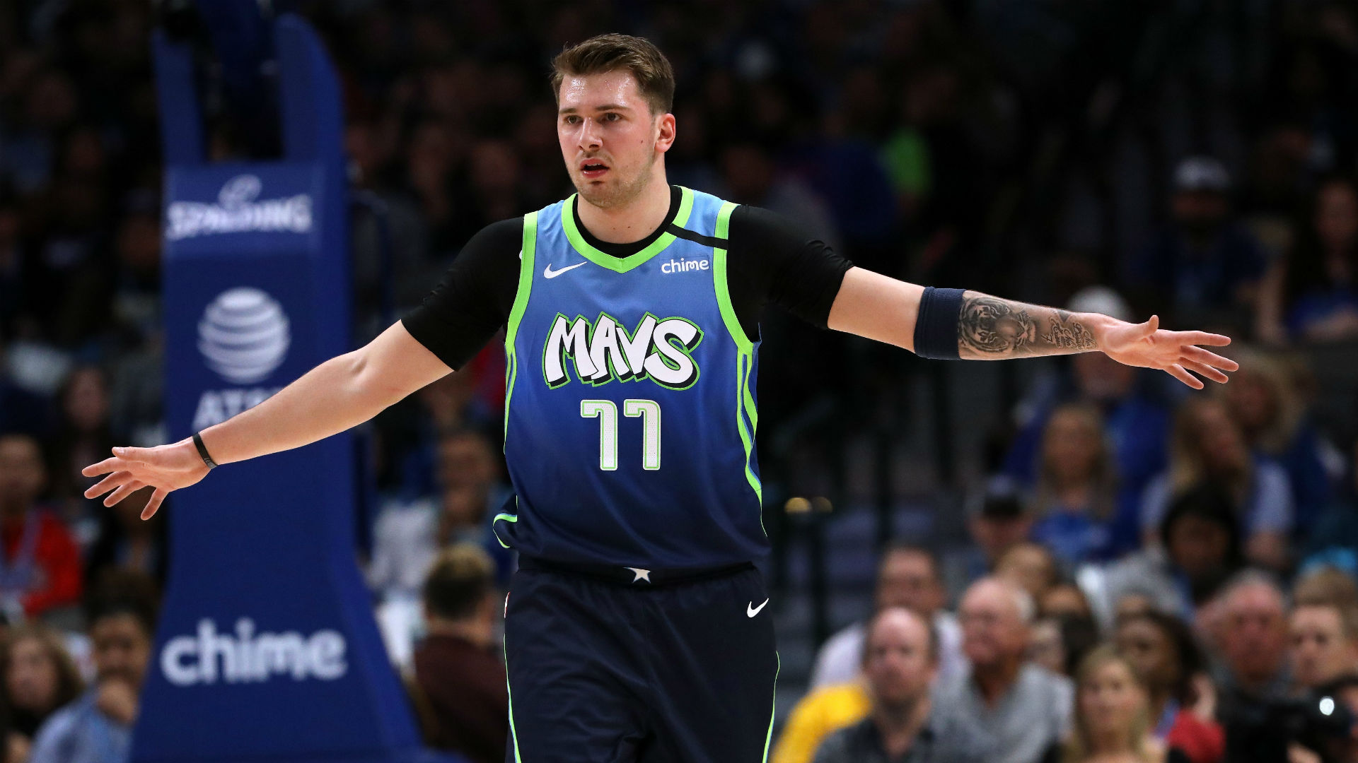 Luka Doncic was relieved it was his left thumb rather than the right that took two blows during a defeat of the Spurs.