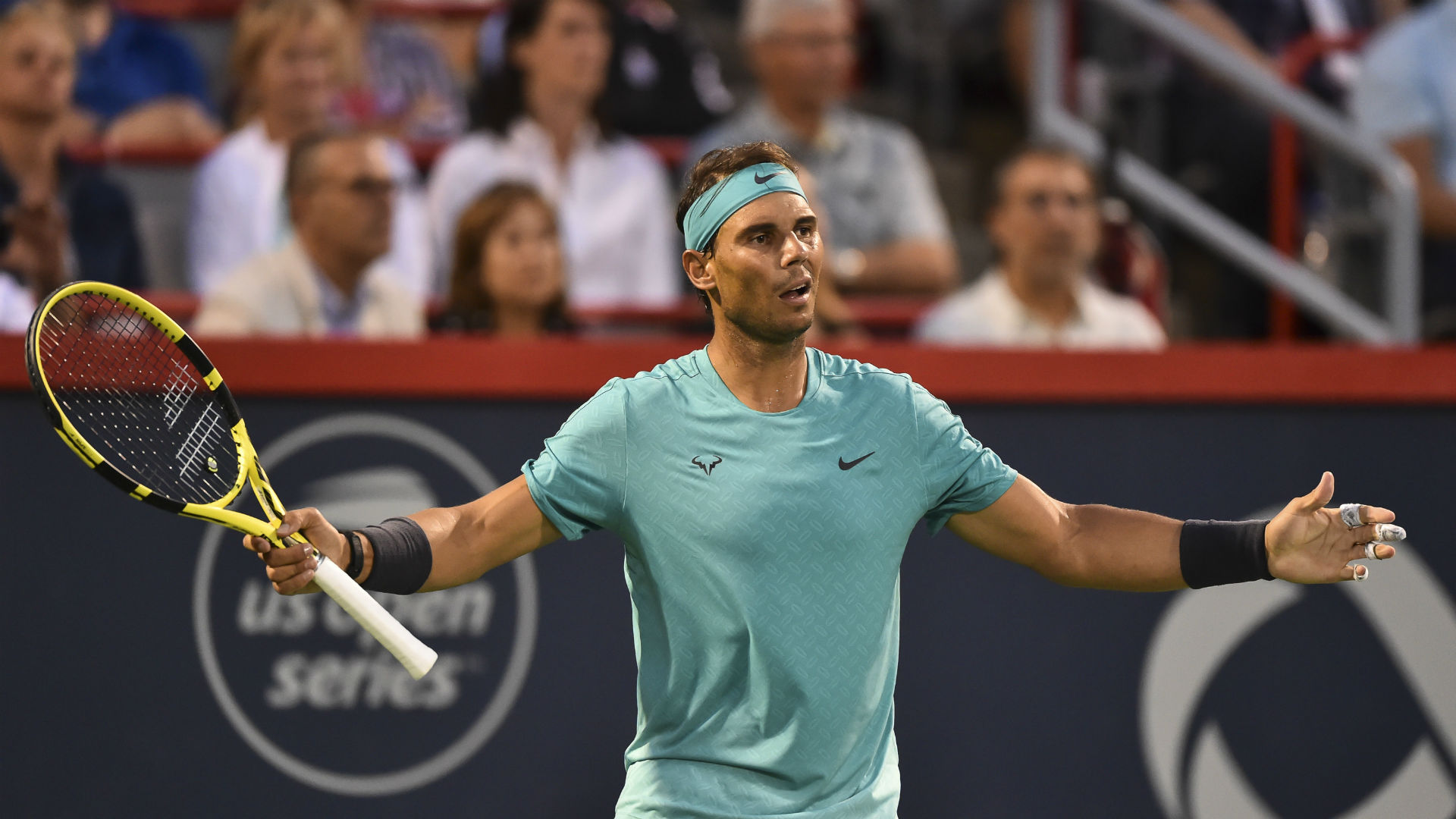 Rafael Nadal cannot meet Novak Djokovic or Roger Federer until the US Open final, but he does not believe that is a definite advantage.