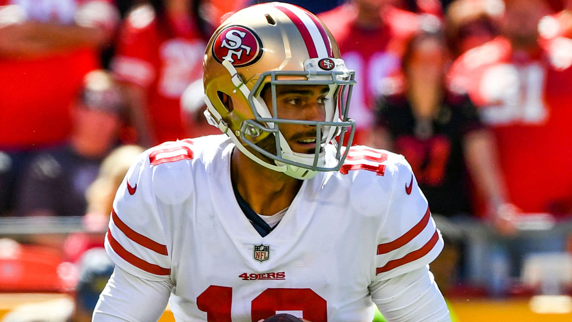 Jimmy Garoppolo threw five consecutive interceptions in a San Francisco 49ers practice session midweek.