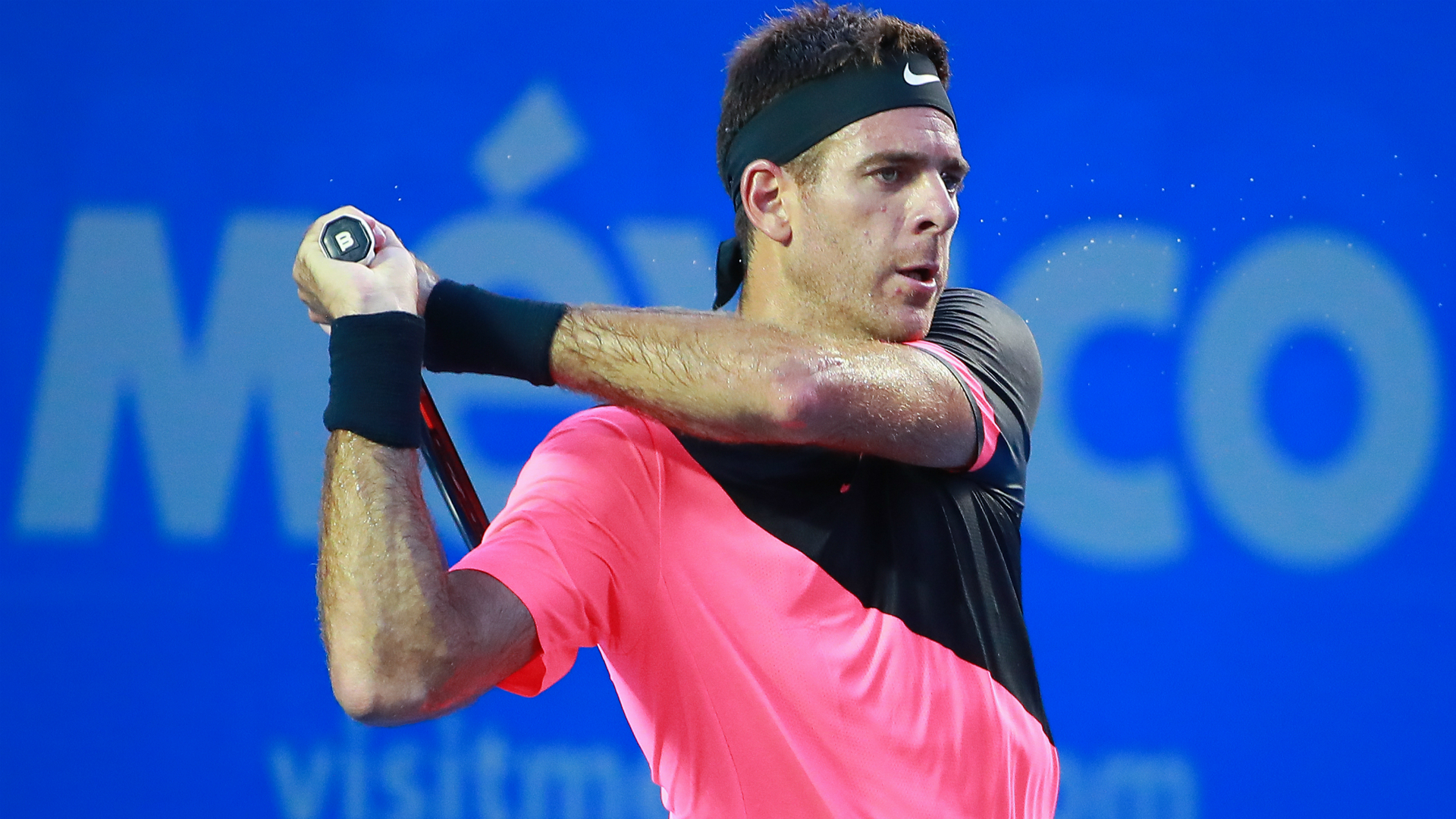 Juan Martin del Potro made it through to the last eight by outlasting Spanish veteran David Ferrer 6-4 4-6 6-3 in Acapulco on Wednesday.
