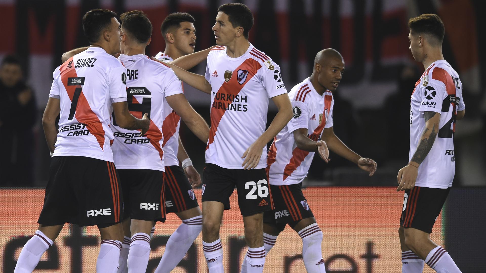 Ignacio Fernandez and Rafael Borre both scored penalties to lead River Plate past Cerro Porteno in Buenos Aires on Thursday.