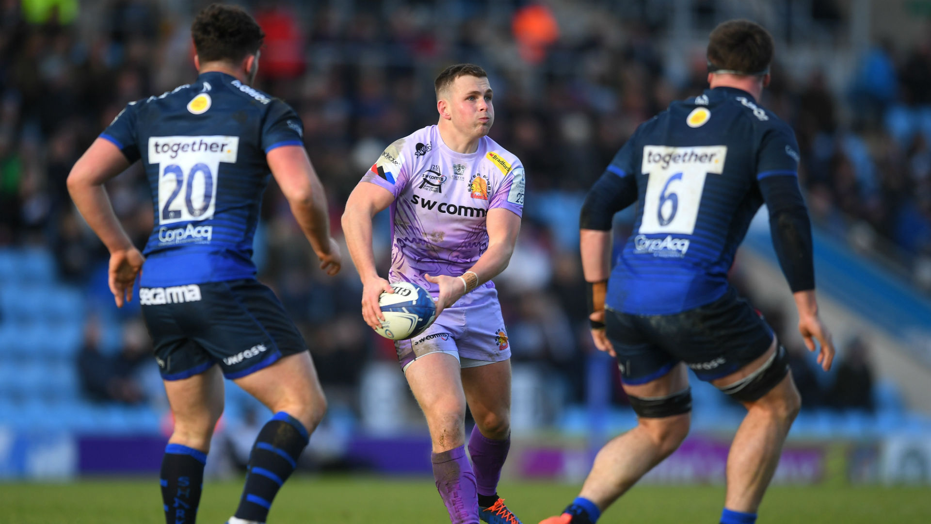 Brothers Joe and Sam Simmonds were influential as Exeter Chiefs moved to the brink of a quarter-final spot in Europe.