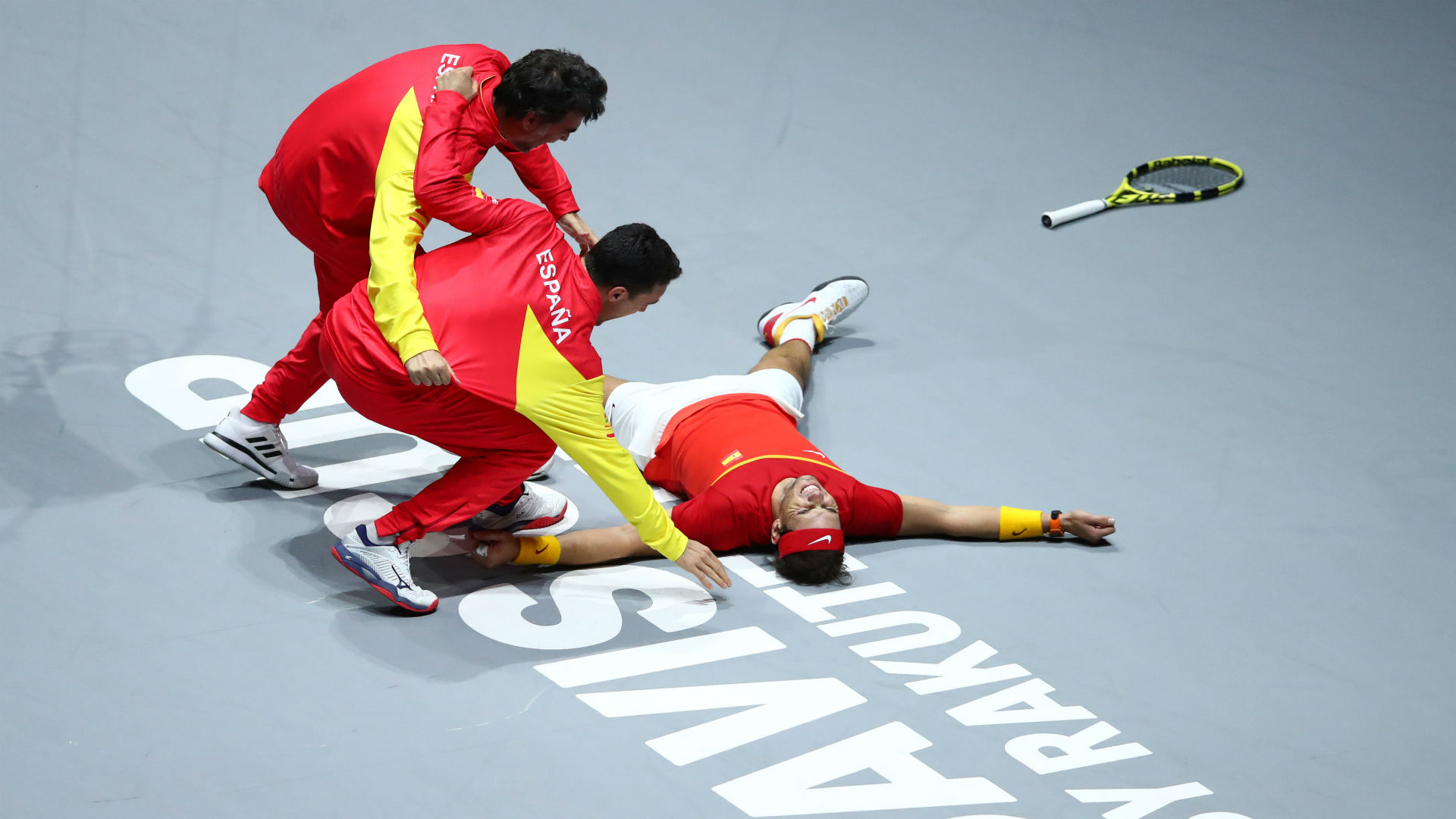 Spain ended an eight-year wait to lift the Davis Cup by beating Canada, Roberto Bautista Agut and Rafael Nadal getting the job done.