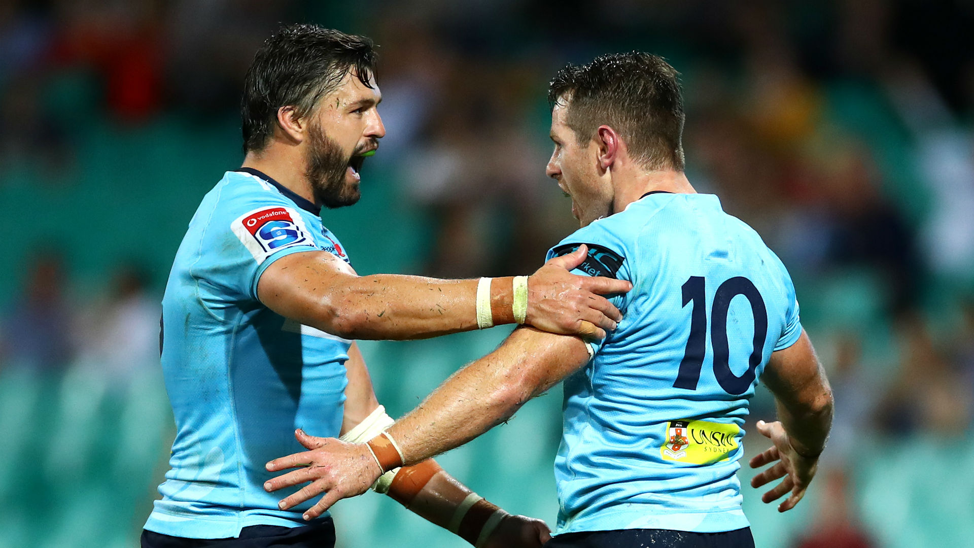 Kurtley Beale started at full-back in place of Israel Folau and the Waratahs showed great spirit to overcome the Rebels at the SCG.