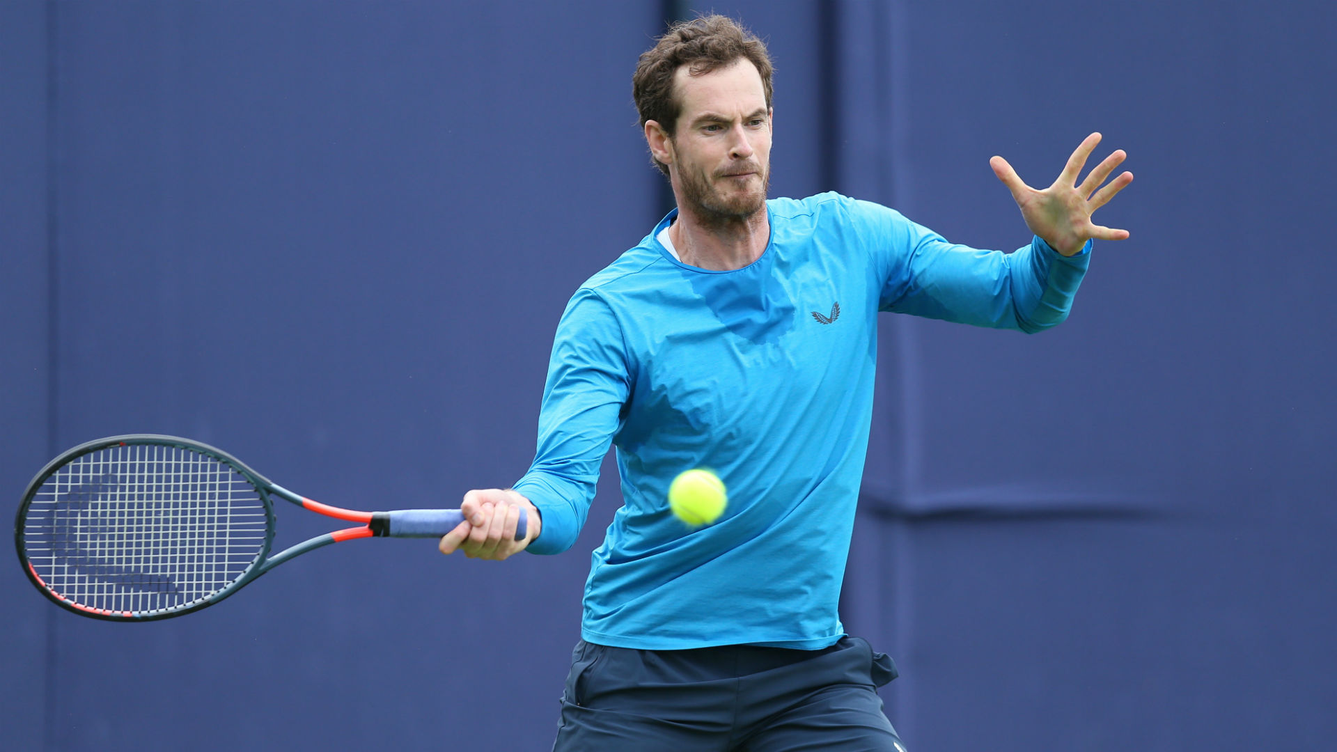 """Three-time grand slam champion Andy Murray is """"progressing all of the time"""" but is prepared to be patient rather than rush a singles return."""