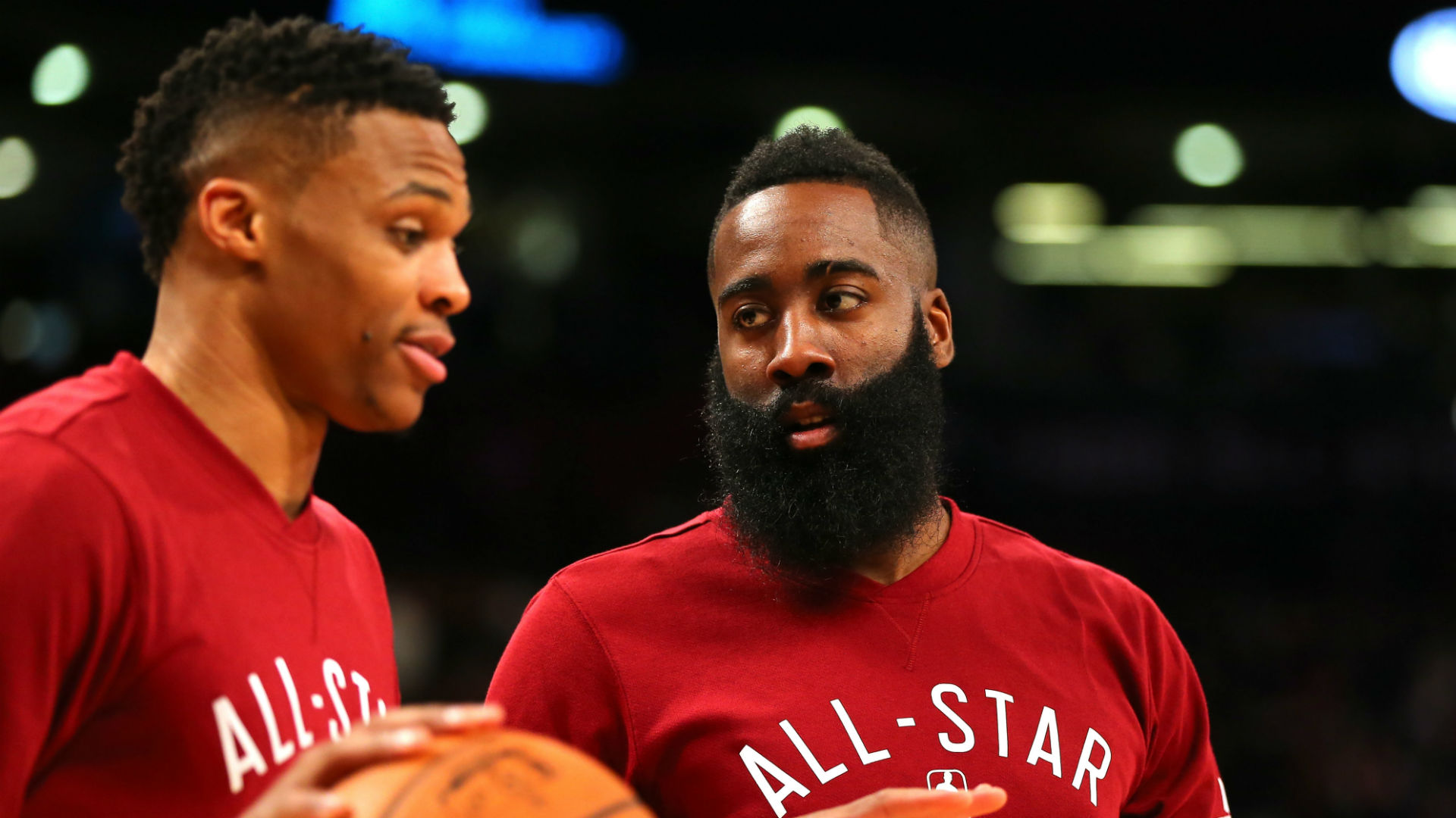 James Harden is pleased to be having the chance to play with Russell Westbrook again.