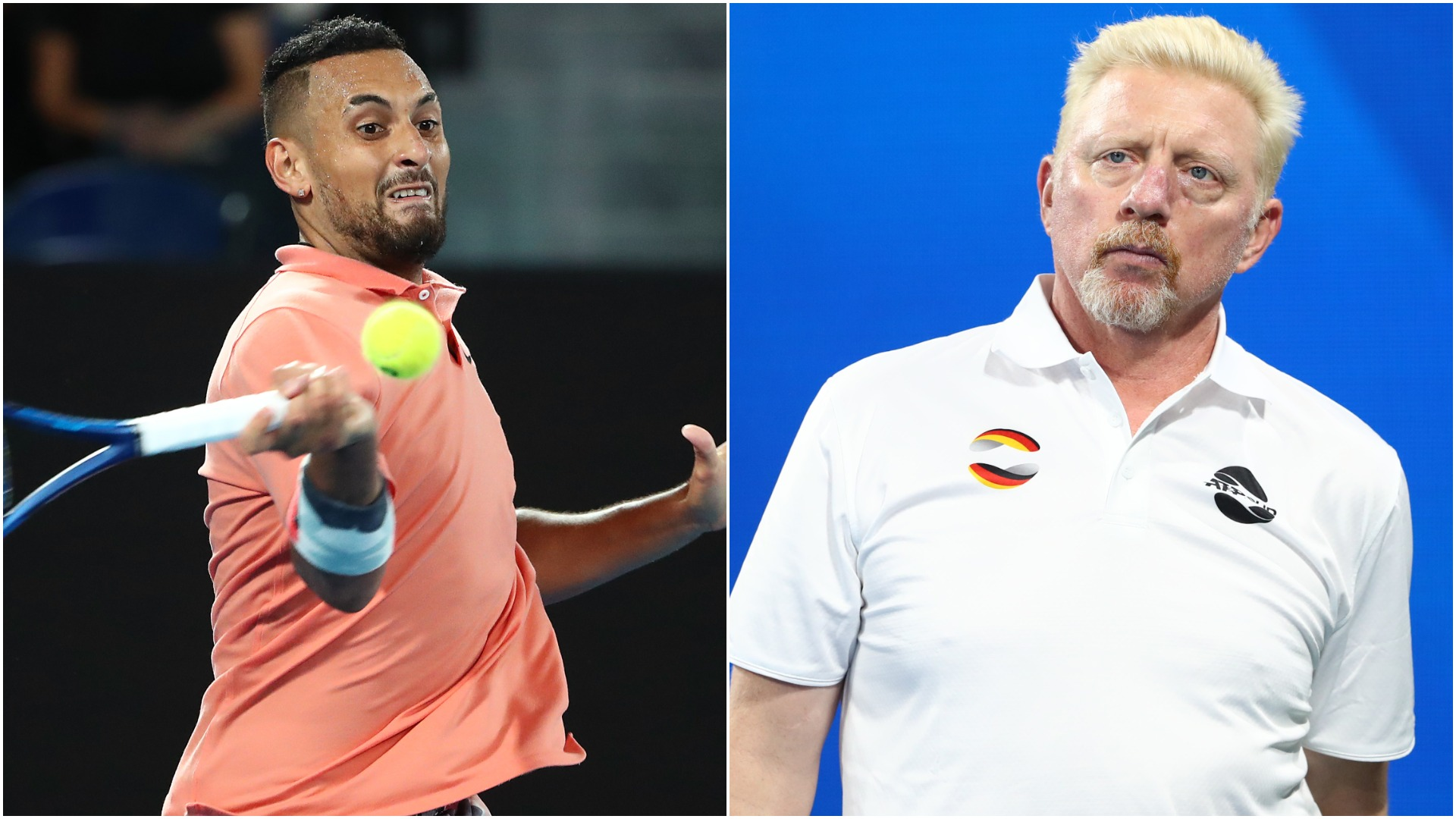 Boris Becker and Nick Kyrgios were involved in a tense Twitter stand-off over the Australian's criticism of Alexander Zverev.