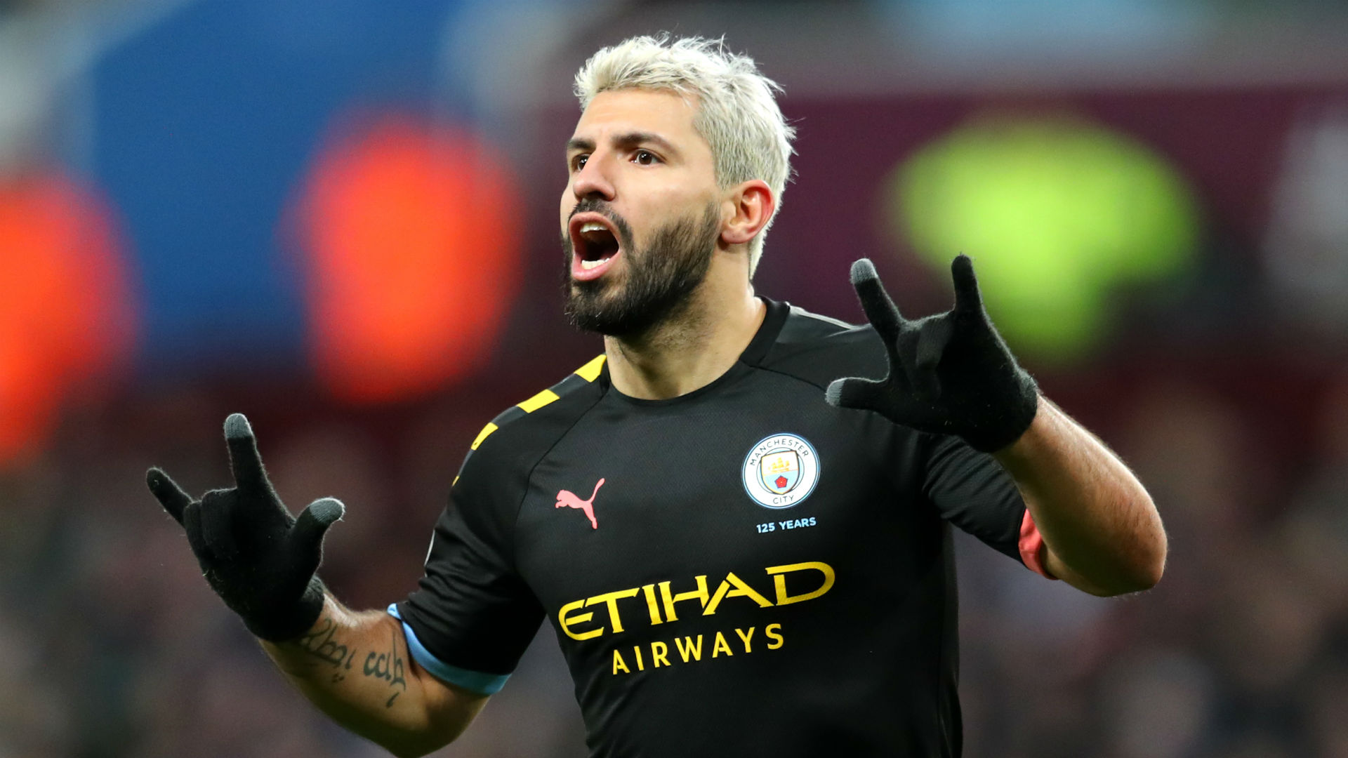 Sergio Aguero made Premier League history as Manchester City hammered Aston Villa on a nightmare debut for Danny Drinkwater.