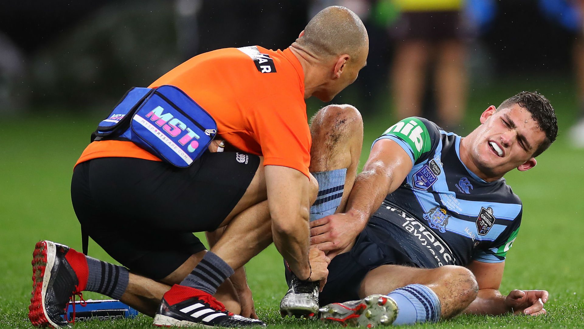 Playmaker Nathan Cleary was due to undergo a scan to discover the extent of the damage done to his ankle in State of Origin II.