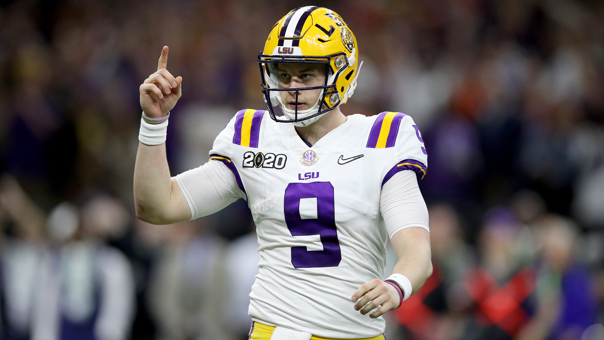 Favourite to be the first pick in the NFL Draft, Joe Burrow led the LSU Tigers to the national title.