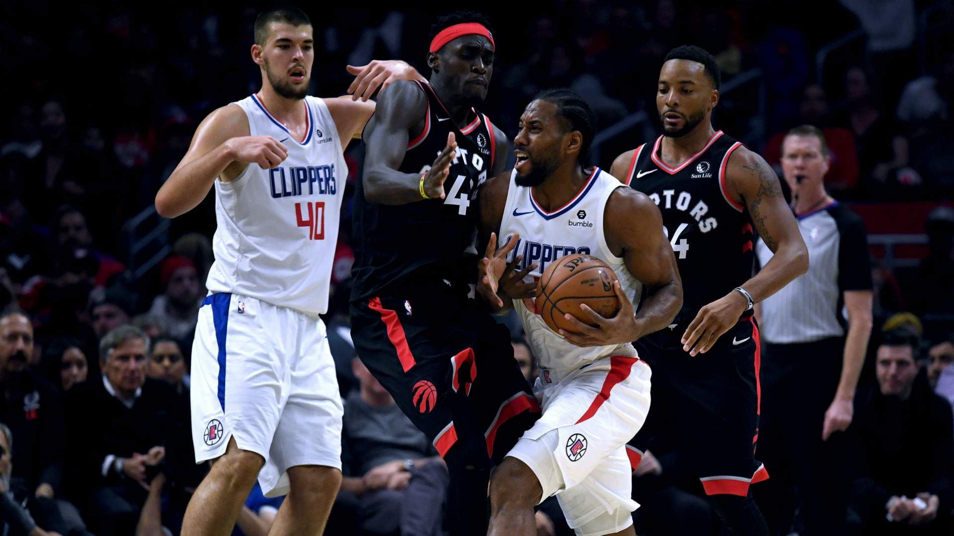 Kawhi Leonard just missed out on a triple-double against the Toronto Raptors in his first meeting with his former team.