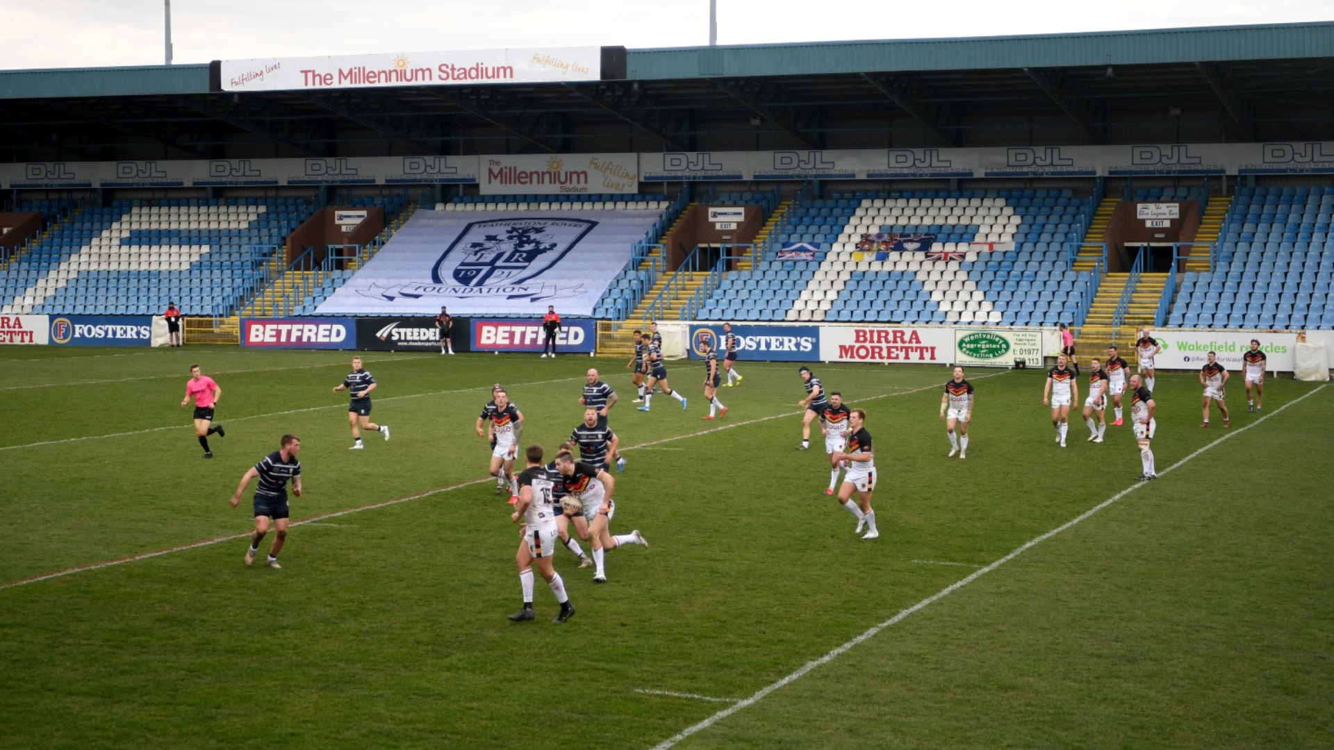 George Flanagan has been fined £250 and suspended for 10 matches for a 'Grade F' offence in the clash with Featherstone Rovers.