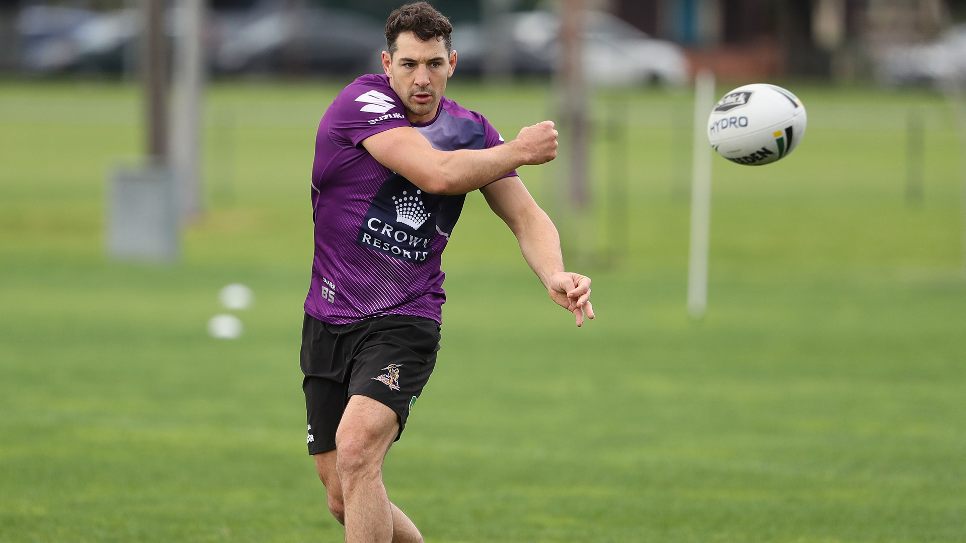 Battling a shoulder injury, Billy Slater will miss Melbourne Storm's NRL opener against the Canterbury Bulldogs.