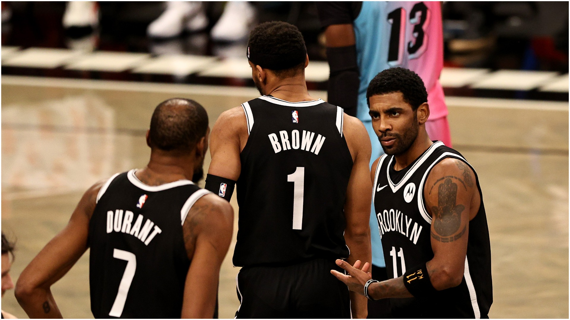 """Kyrie Irving declared """"it's winning time"""" after his fourth-quarter showing saw the Brooklyn Nets beat the Bam Adebayo-inspired Miami Heat."""