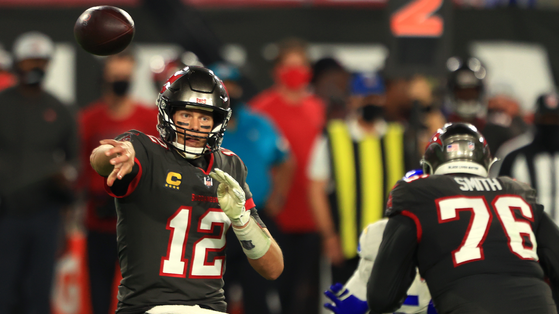 Tampa Bay Buccaneers head coach Bruce Arians called for improvement from his team after Tom Brady had an off night against the Rams.