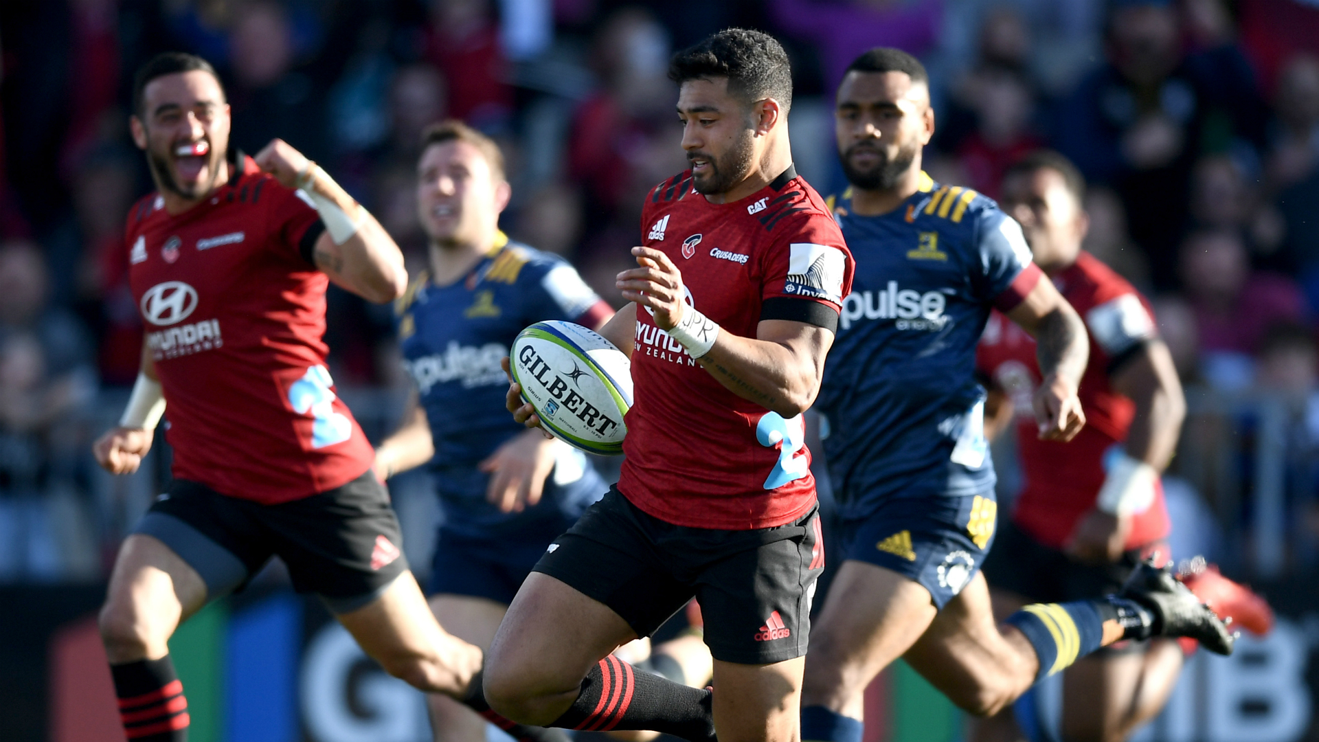 Trailing at half-time, the Crusaders overcame the Highlanders to dodge a make-or-break date with the Blues in Super Rugby Aotearoa.