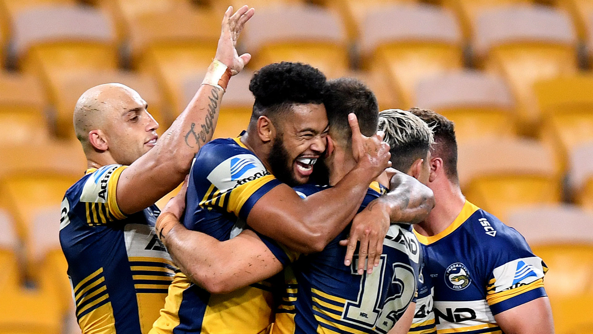 The first game back upon the NRL's resumption saw Parramatta Eels maintain their 100 per cent start by beating Brisbane Broncos.
