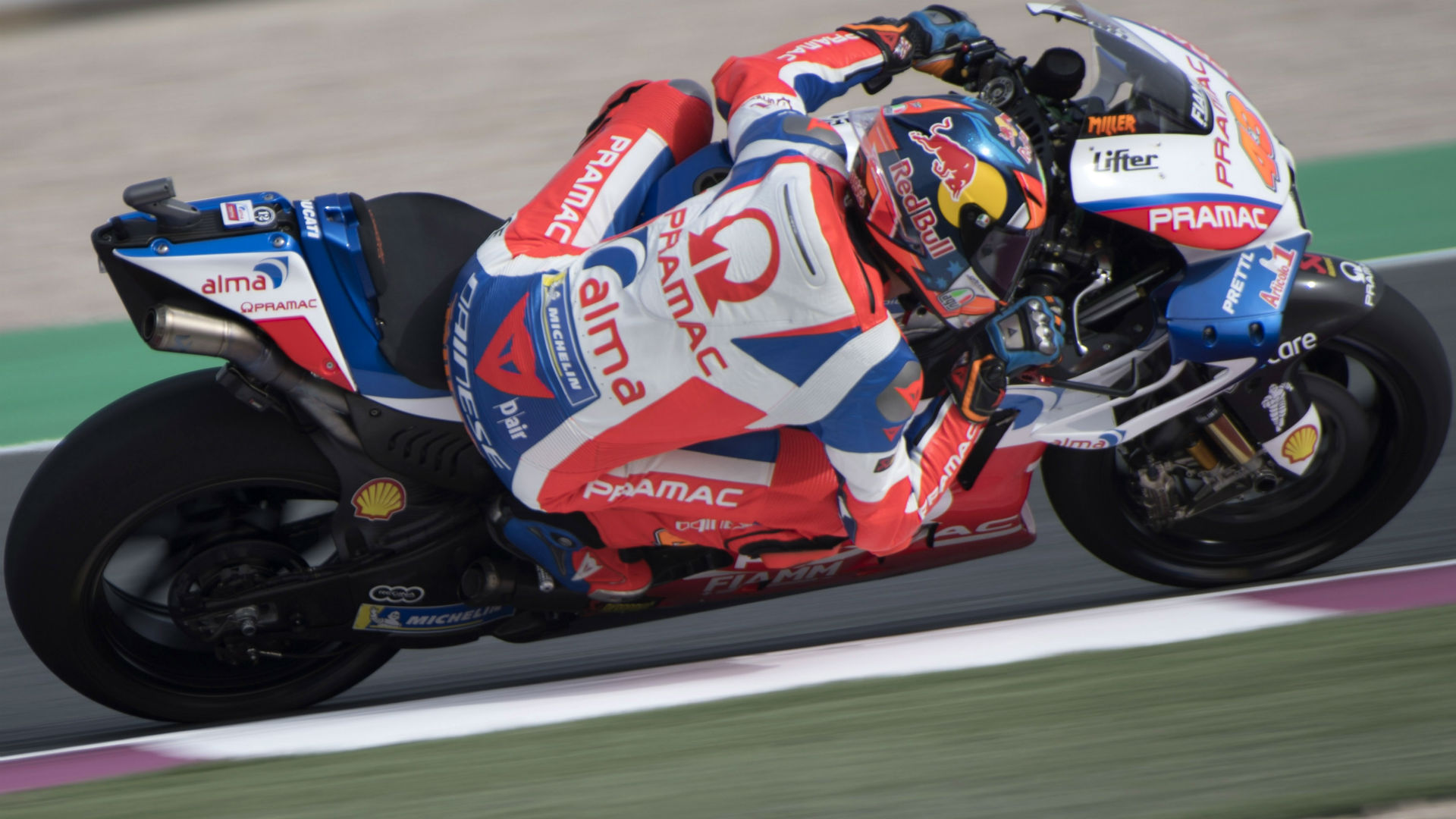 Dani Pedrosa was pipped at the last as Jack Miller left it late to take pole at the Argentina Grand Prix.