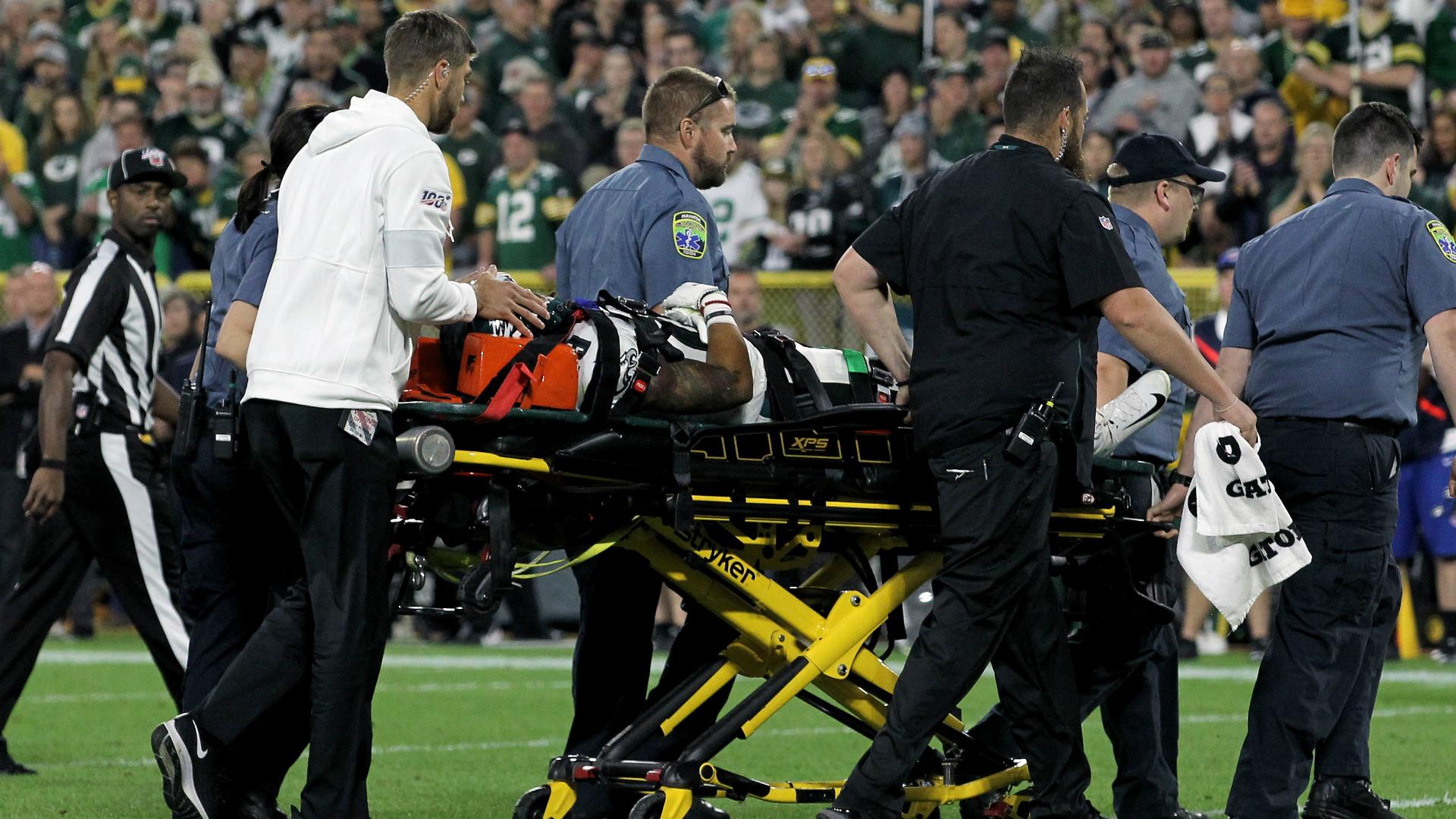 Maddox taken to hospital