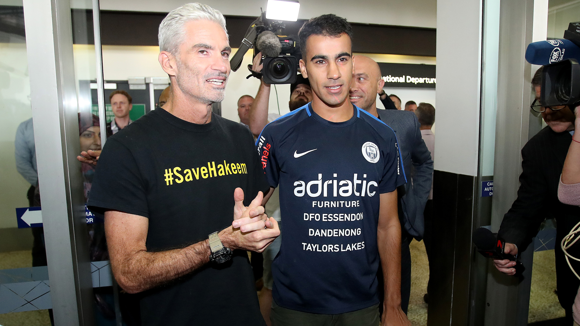Hakeem al-Araibi received a warm welcome on his return to Australia on Tuesday.