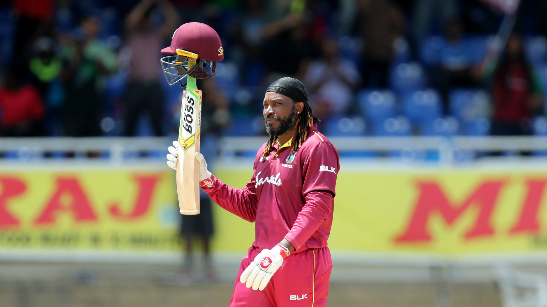Chris Gayle turned on the style in his likely ODI farewell by cracking a flurry of boundaries in an impressive half-century against India.