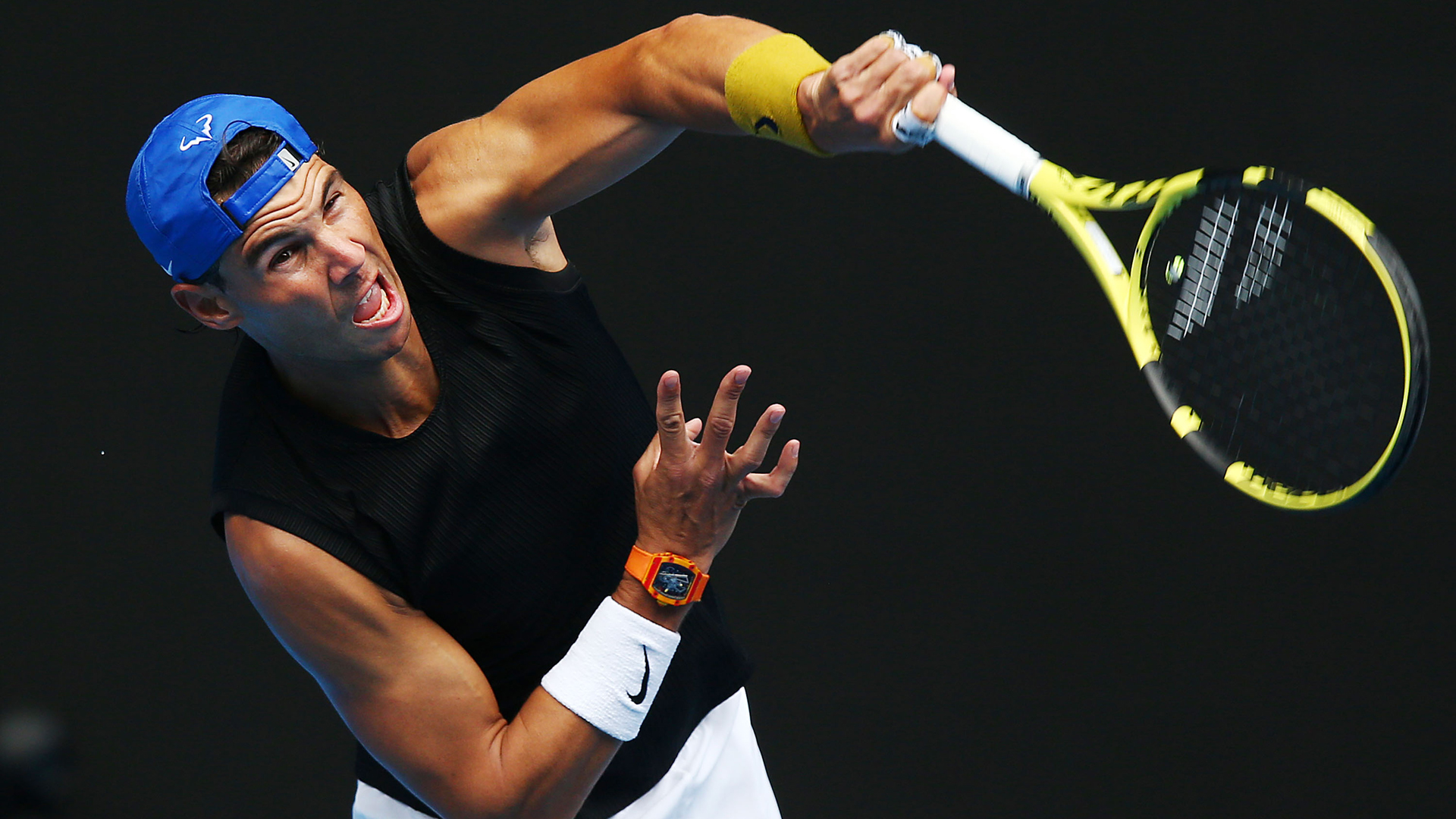 Ahead of the Australian Open, Rafael Nadal played down worries over his fitness and talked about his new serve.
