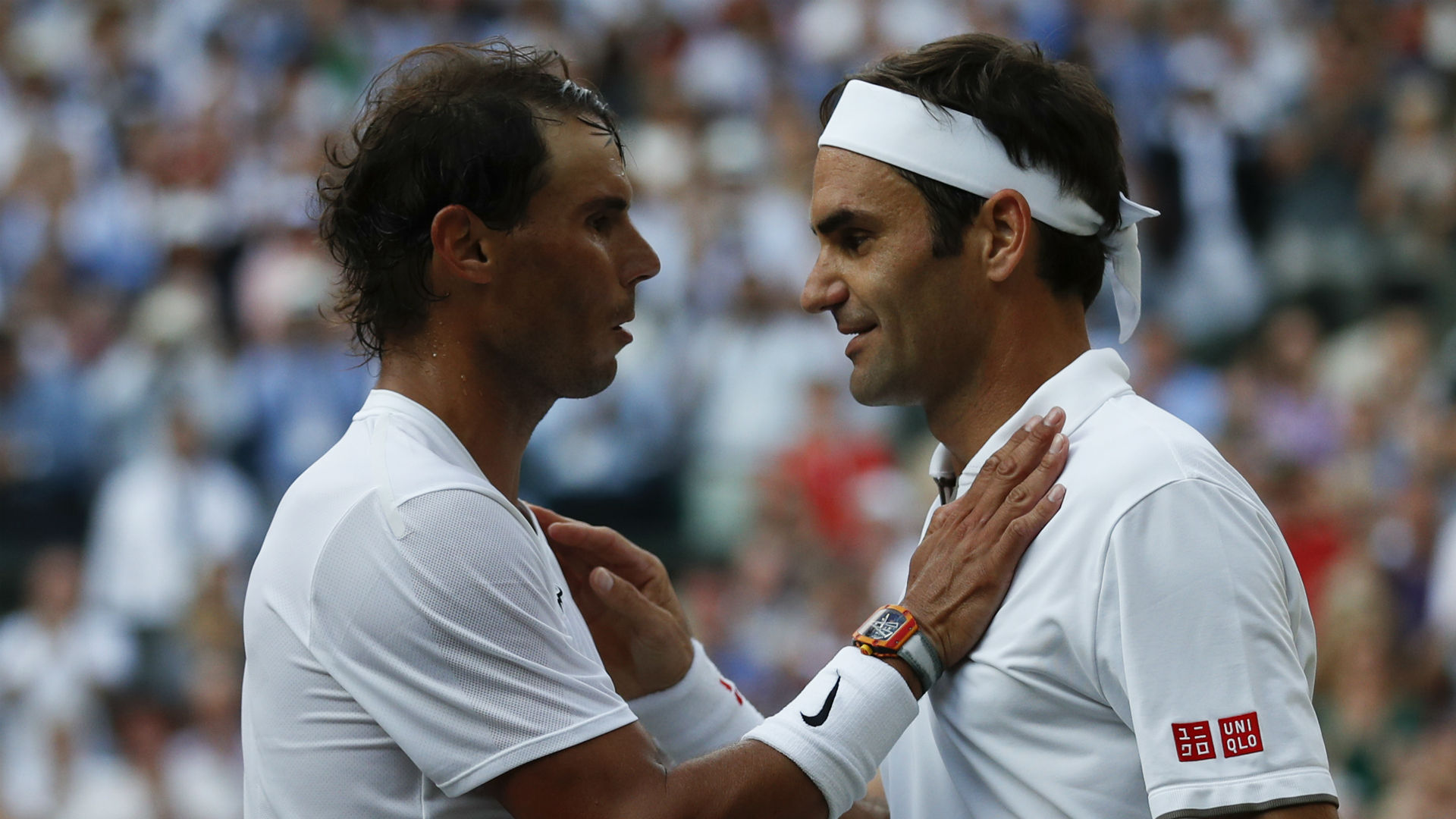 Rafael Nadal conceded that he did not play well enough to beat Roger Federer at Wimbledon in their 40th encounter.