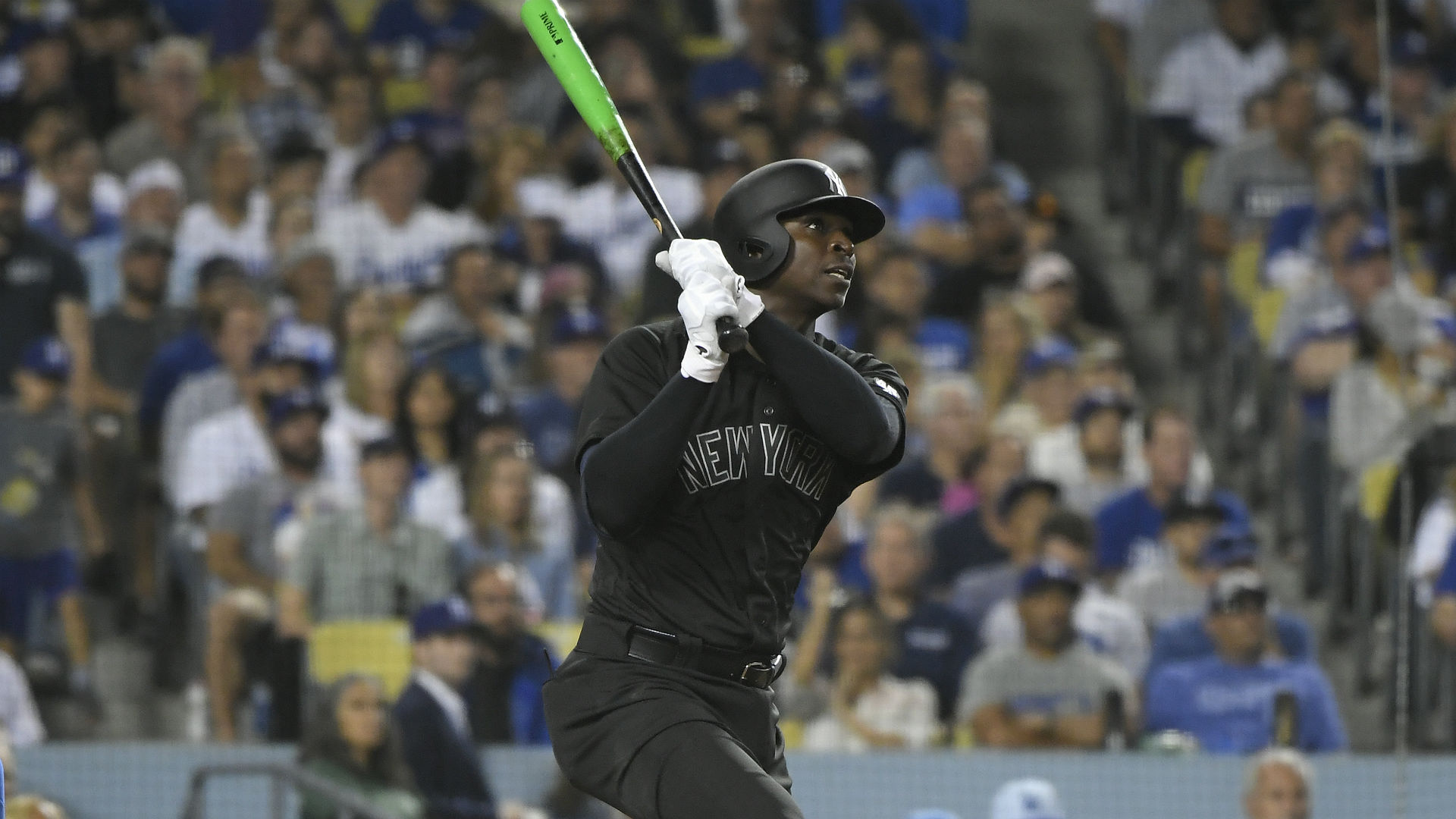 Gregorius remained in the game after being hit by a Clayton Kershaw pitch, but was lifted for a pinch hitter two innings later.