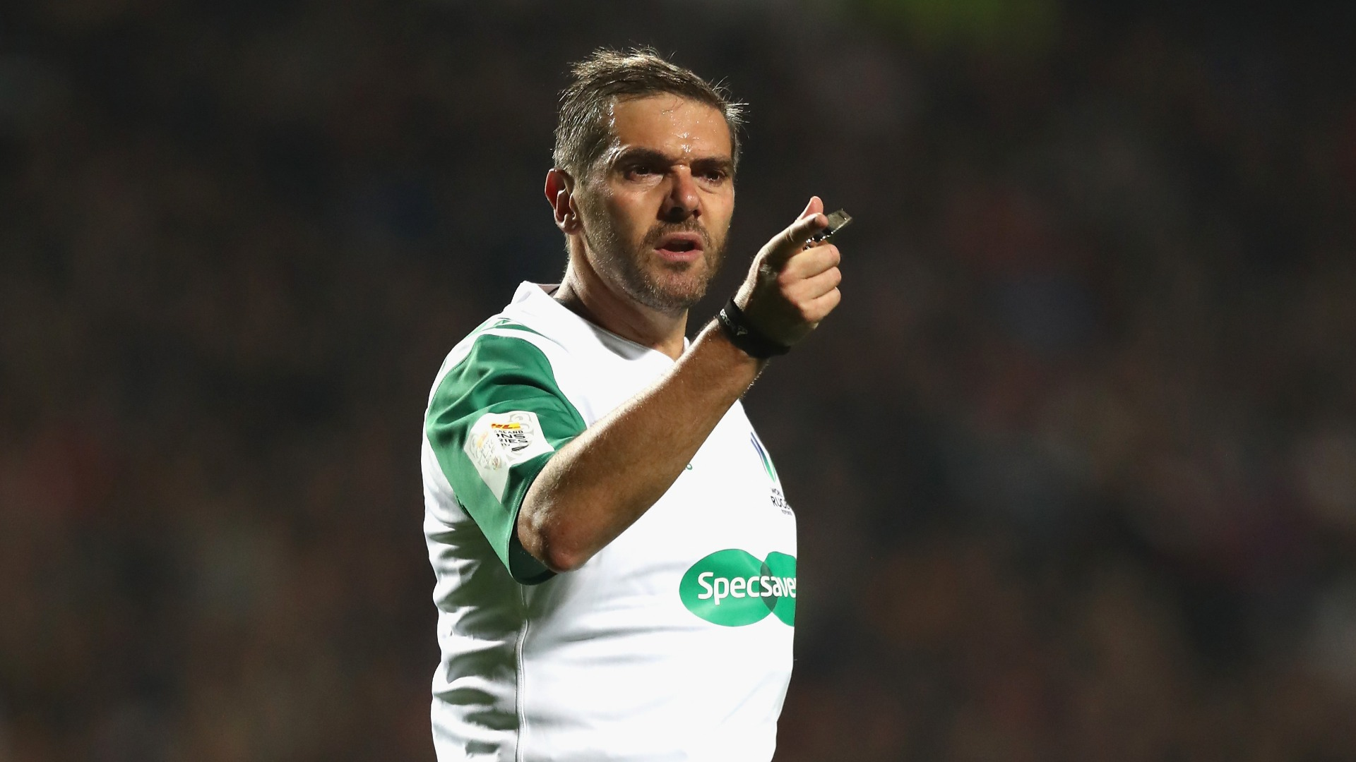 Springboks boss Rassie Erasmus has sought to put pressure on Rugby World Cup referee Jerome Garces, says New Zealand coach Steve Hansen.