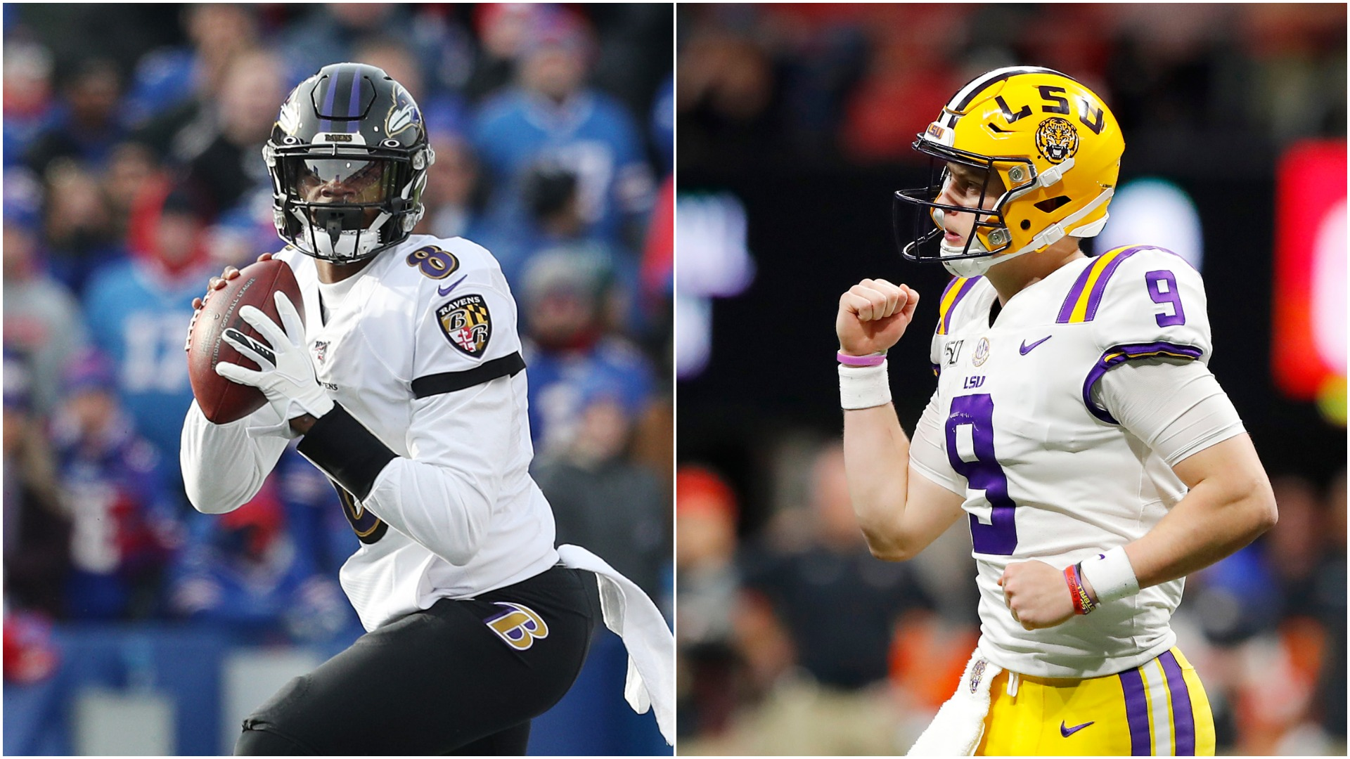 Joe Burrow appears destined to be the number one pick in the 2020 NFL Draft and Lamar Jackson believes he should win the Heisman Trophy too.
