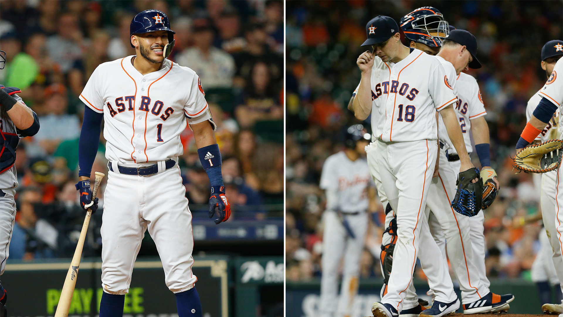 The Astros will be without Carlos Correa and Aaron Sanchez for at least 10 days.