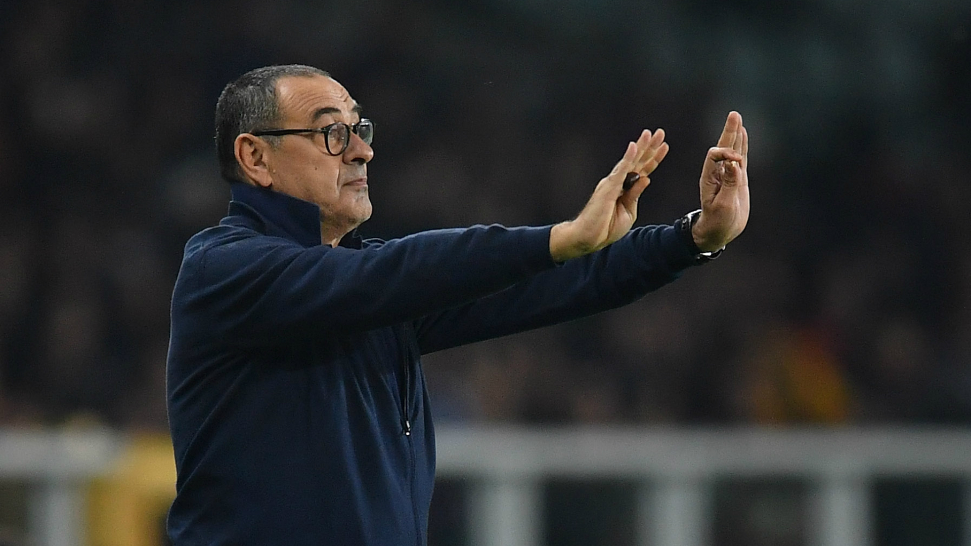 The state of the pitch and Torino's tactics meant Juventus could not play to their fluid best in the derby, according to Maurizio Sarri.