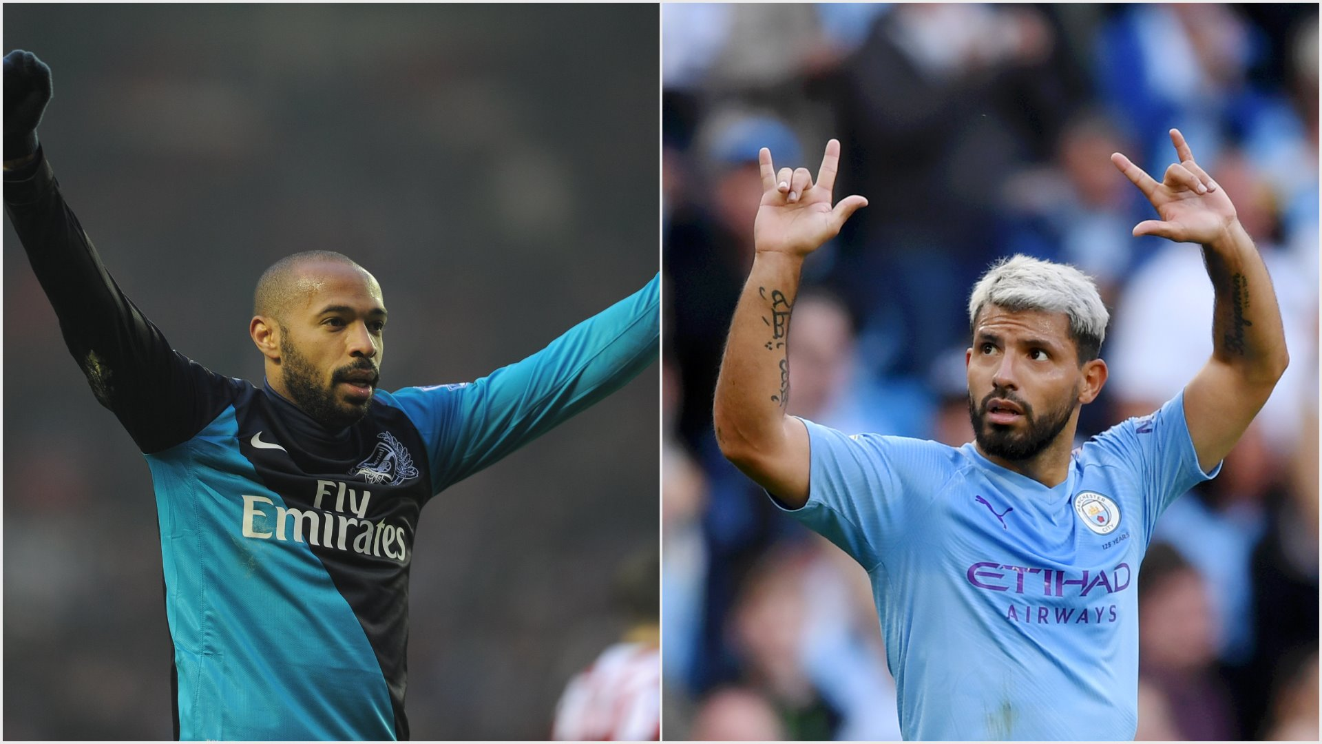 Sergio Aguero has surpassed Thierry Henry as the leading overseas goalscorer in the Premier League. We compare two phenomenal strikers.