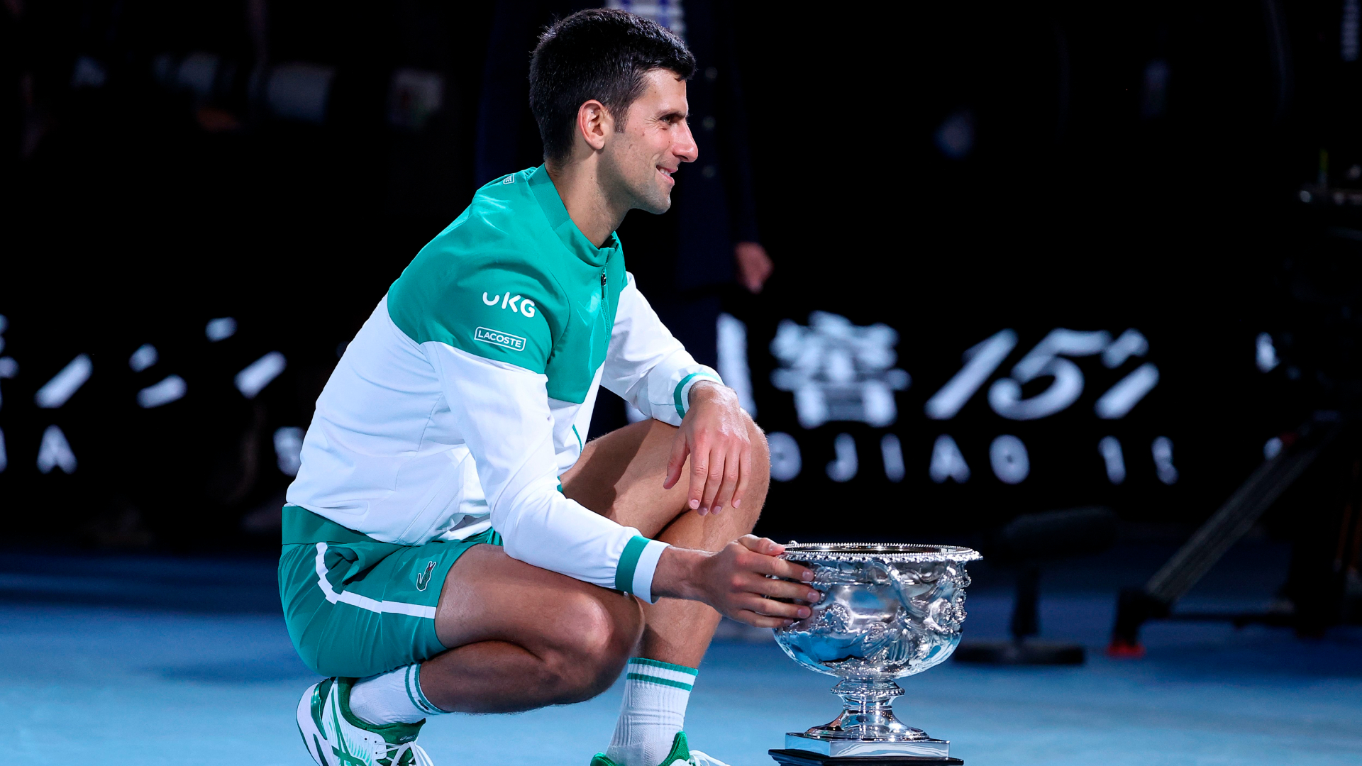After winning the Australian Open, Novak Djokovic confirmed he had been playing with a torn oblique muscle.