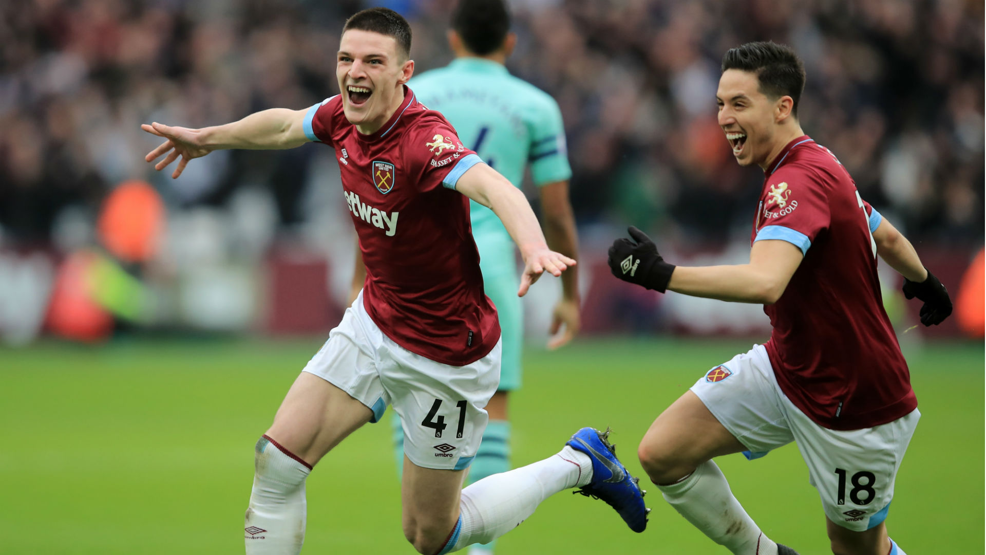 Declan Rice netted the winner as West Ham beat Arsenal in the Premier League, with Samir Nasri impressing on his league debut.