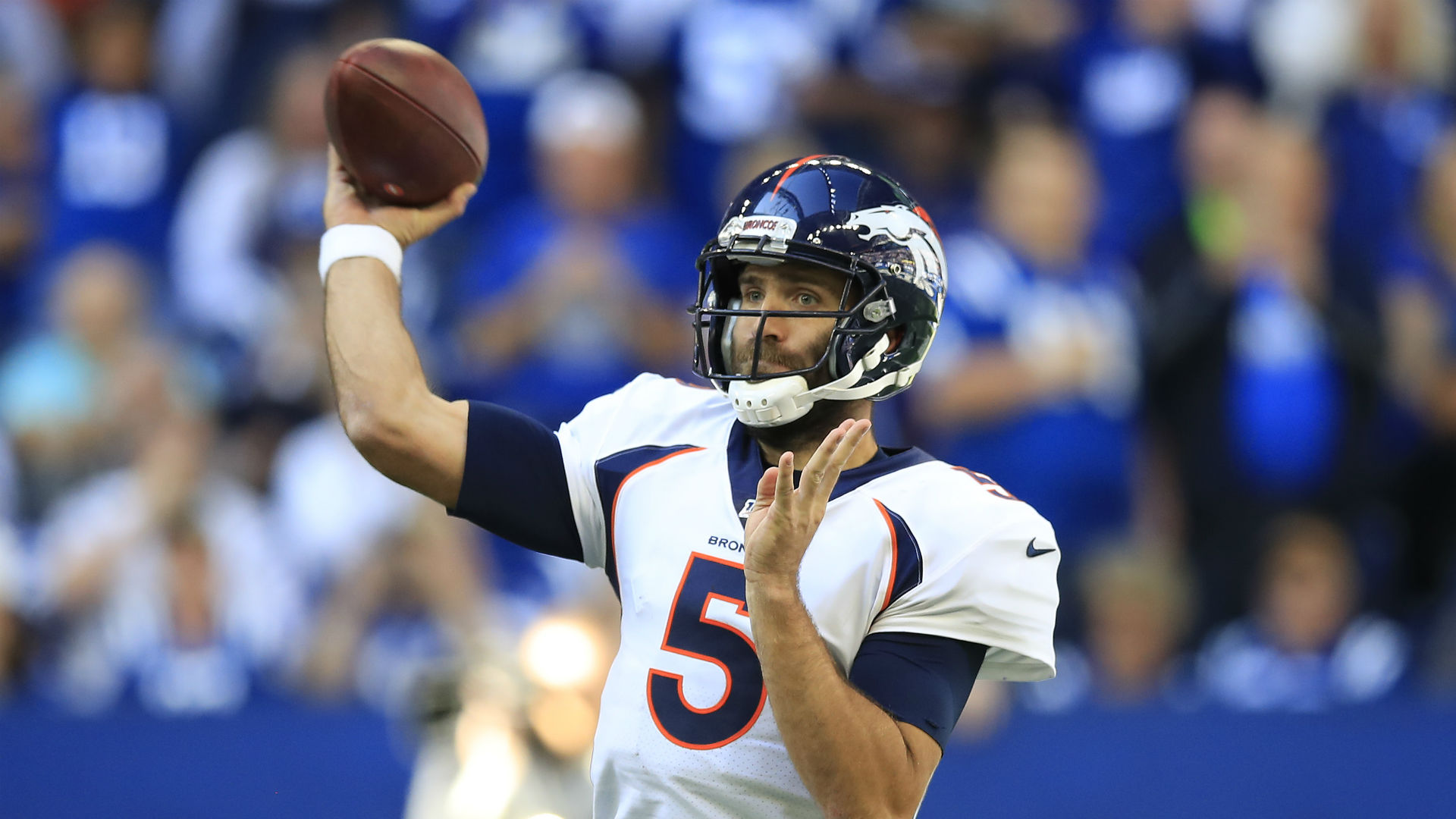 Joe Flacco has agreed to a one-year deal with the New York Jets and is likely to provide back-up to Sam Darnold.