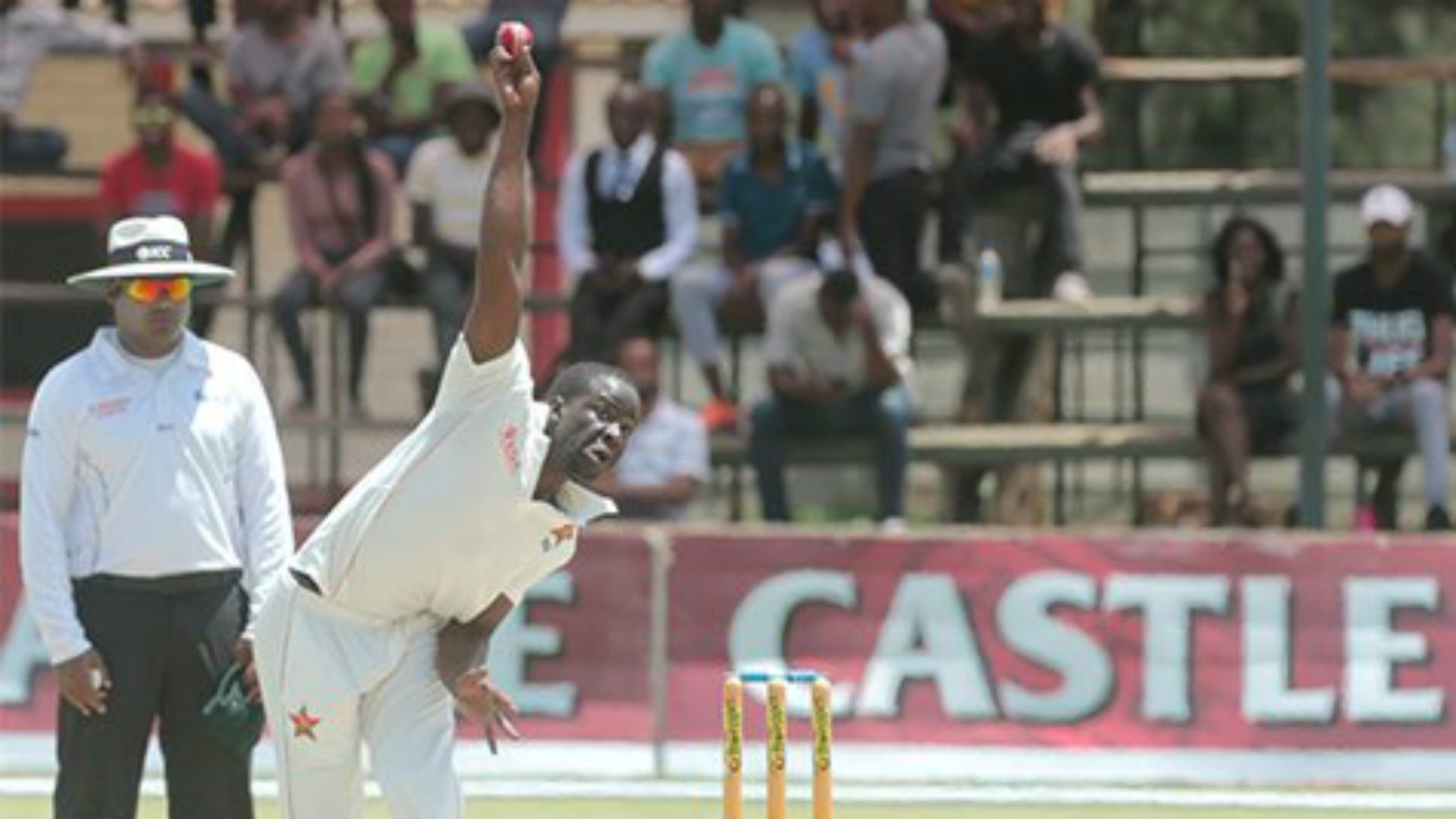 Sri Lanka are 284 runs behind Zimbabwe after two days of the second Test match between the teams in Harare.