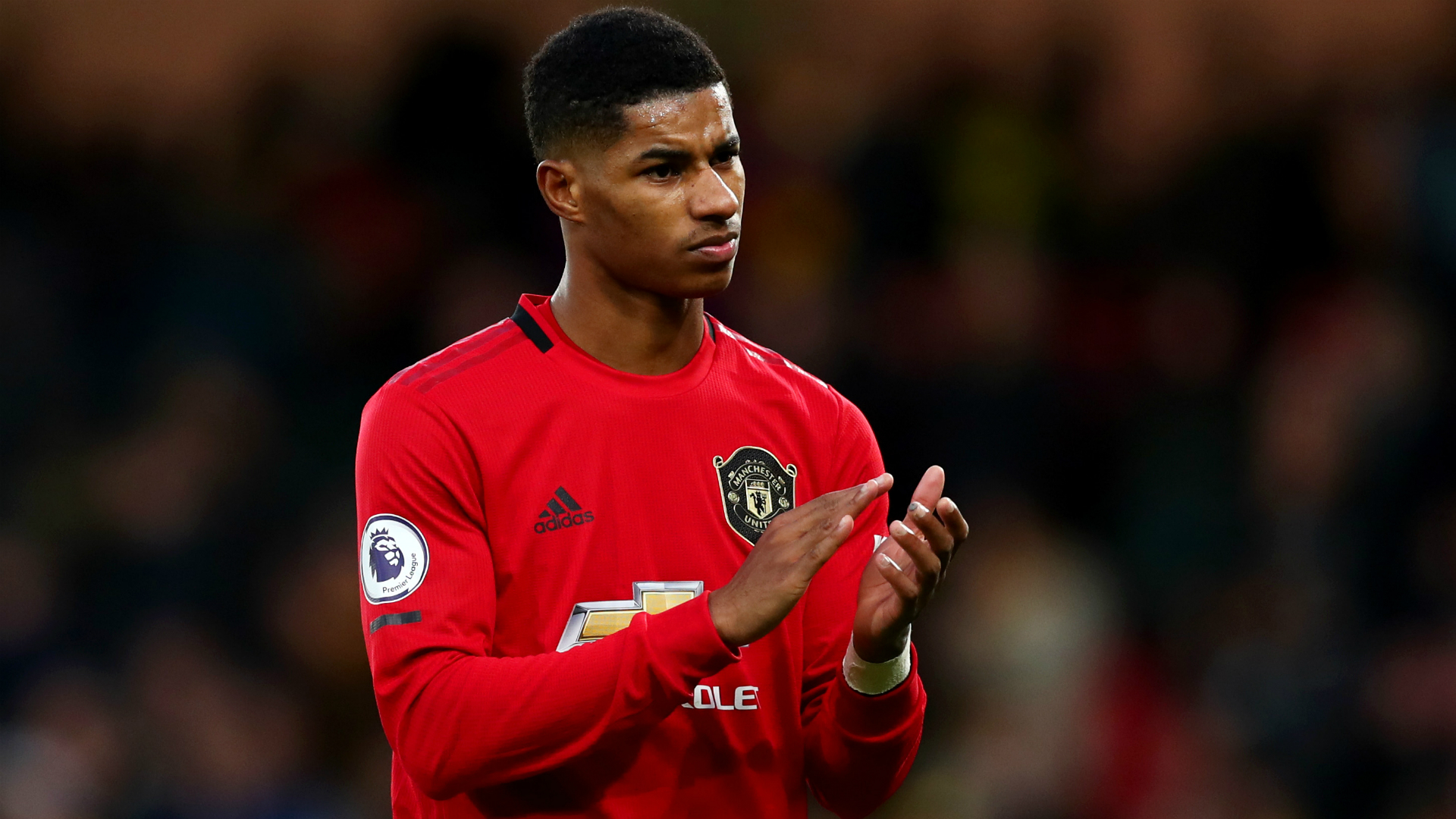 Manchester United say Marcus Rashford is doing well in his recovery from injury, which continues while English football is suspended.