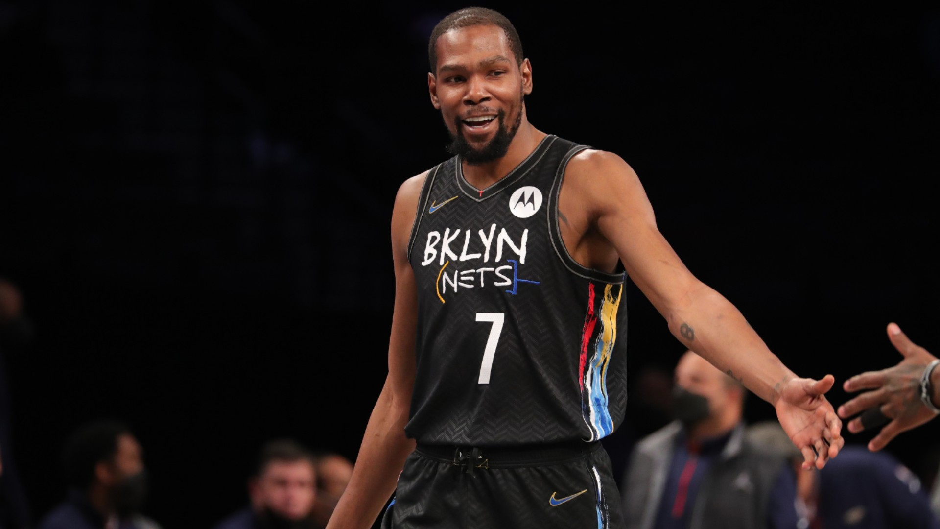 Kevin Durant reacted to his return for the Brooklyn Nets on Wednesday, which resulted in a win over the New Orleans Pelicans.