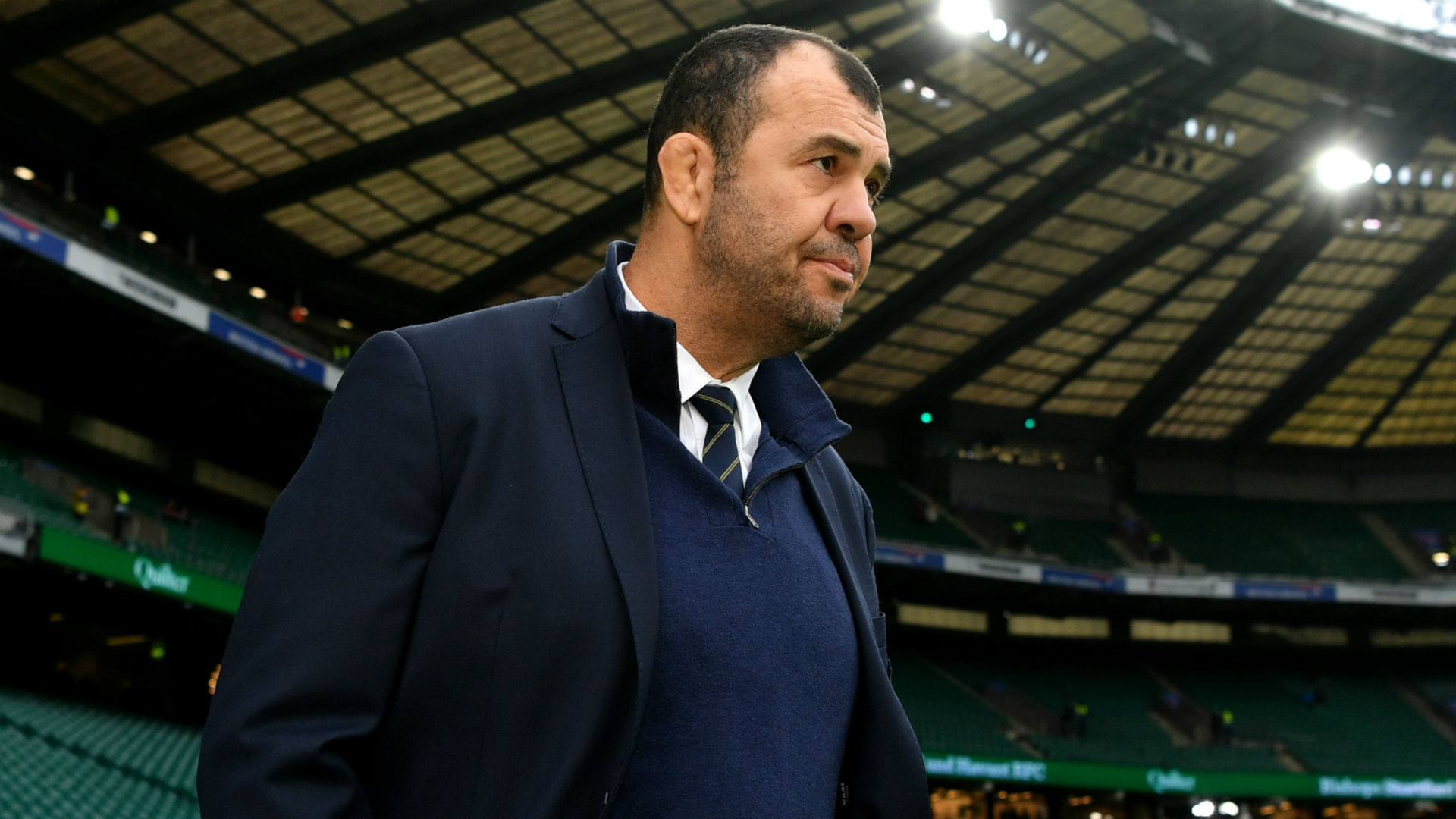 The pressure might be on Australia as they face Fiji at the Rugby World Cup but head coach Michael Cheika is not feeling it.