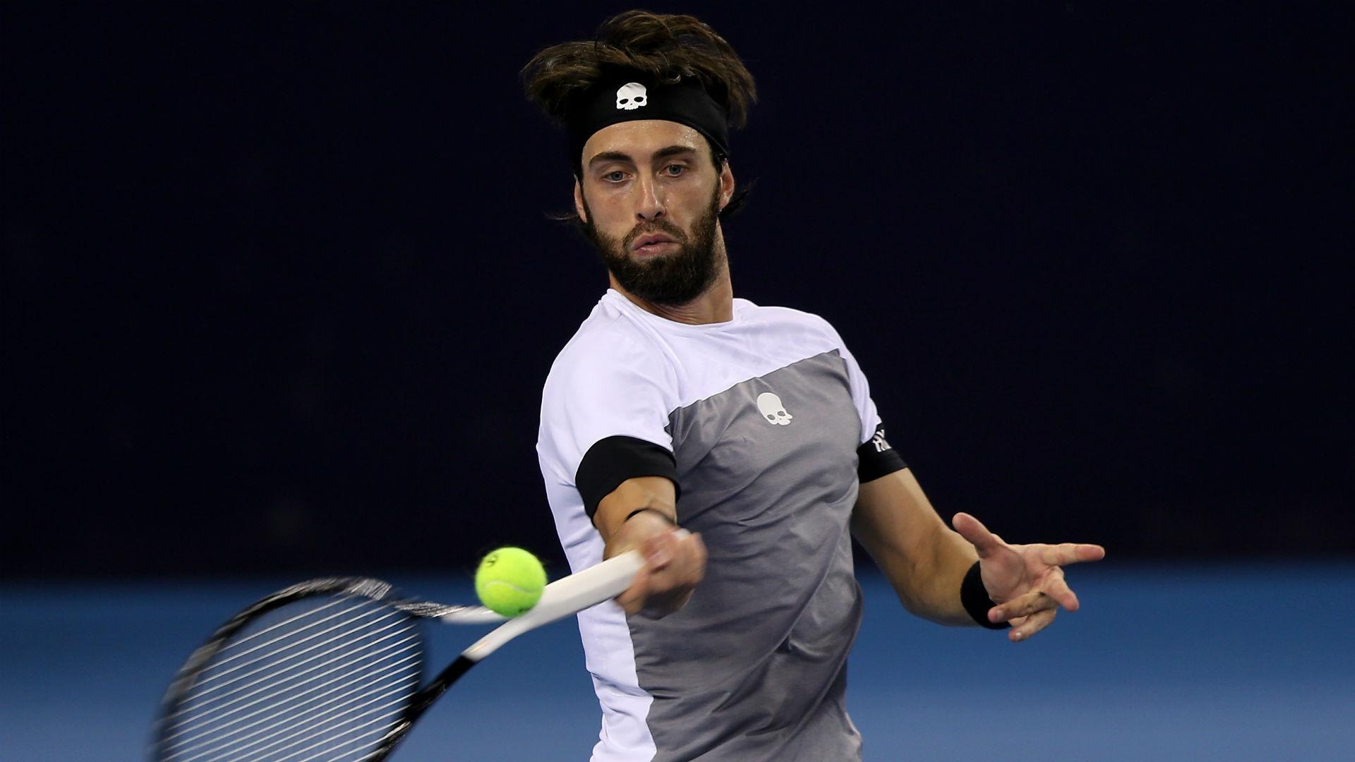 Juan Martin del Potro's opponent in the China Open final will be Nikoloz Basilashvili, who overcame Kyle Edmund 7-6 (8-6) 6-4 on Saturday.