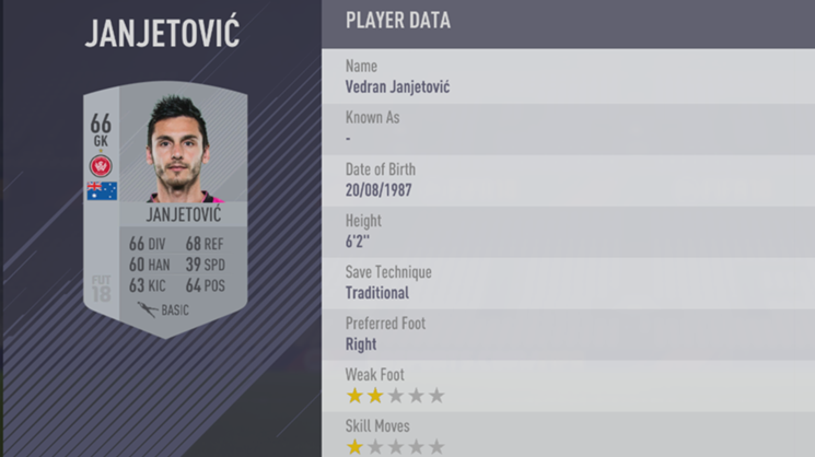 Vedran Janjetovic - FIFA 18