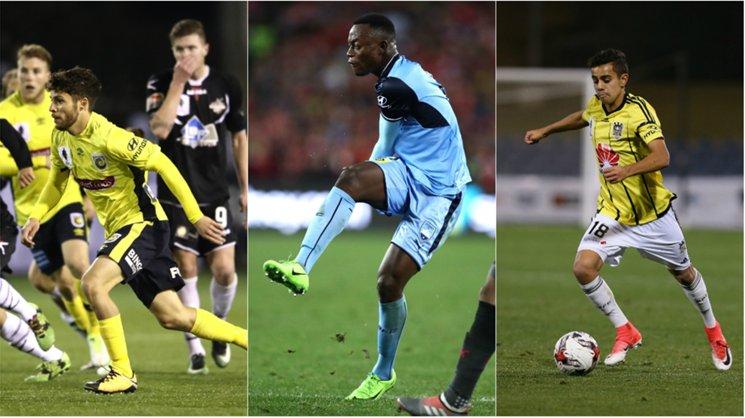 Central Coast's Daniel De Silva, Sydney FC's Charles Lokolingoy and Wellington's Sarpreet Singh are among the young talent in the Hyundai A-League.