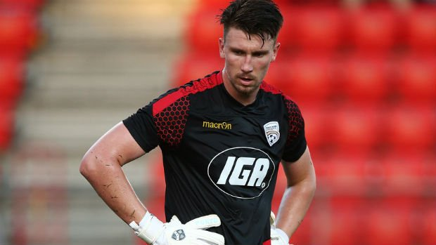 Adelaide United goalkeeper John Hall.