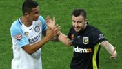 Roy O'Donovan was shown a red card in Central Coast Mariners' loss to Melbourne City.