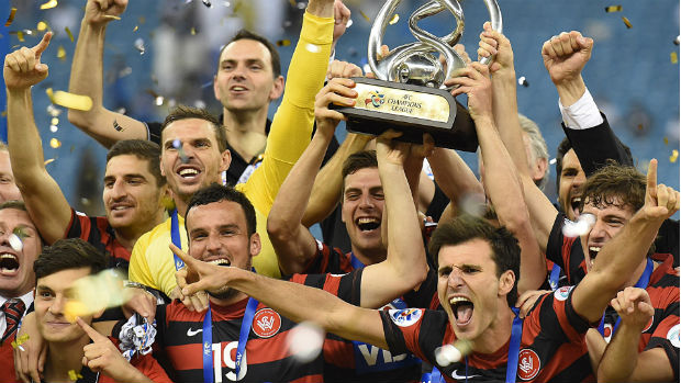 The Wanderers celebrate their 2014 AFC Champions League title.
