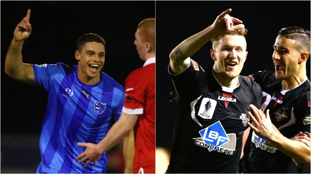 Gold Coast City striker Jarrod Kyle and Blacktown City's Joey Gibbs are among the hottest strikers in the NPL.