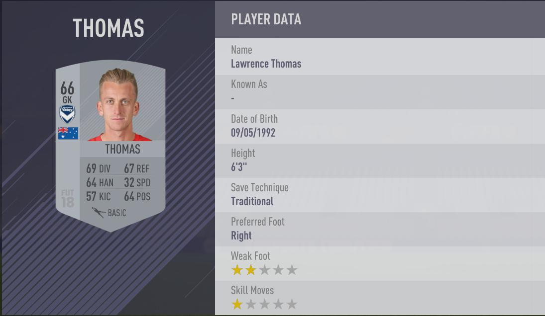 Lawrence Thomas - FIFA 18